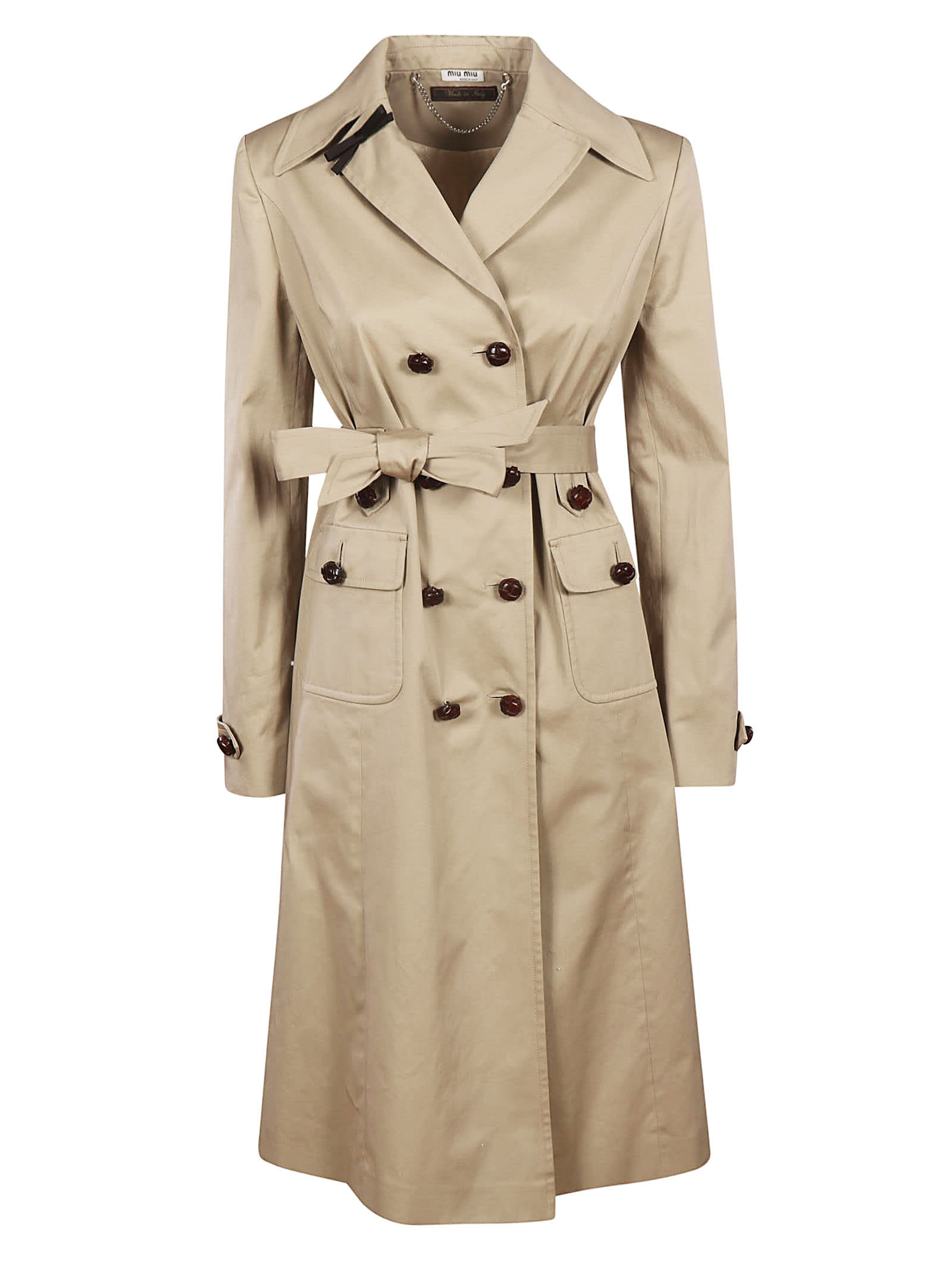 Photo of  Miu Miu Gabardine Str. Trench- shop Miu Miu jackets online sales