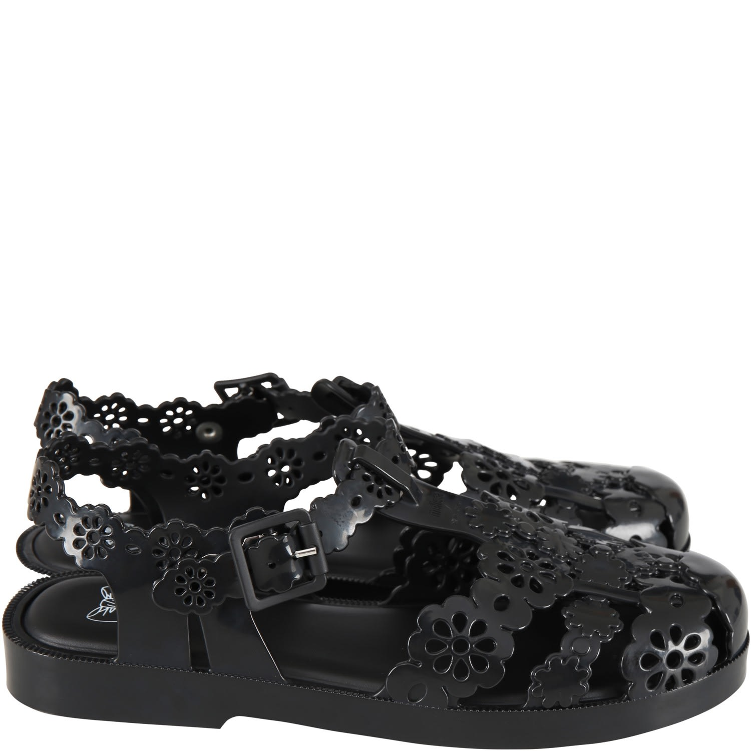 Black Spider Shoes For Woman