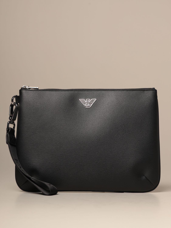 Emporio Armani Briefcase Emporio Armani Flat Clutch Bag In Synthetic Leather