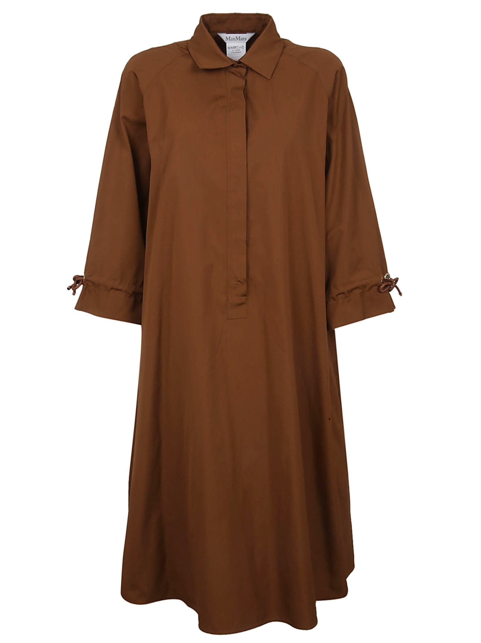 Photo of  Brown Cotton Dress- shop Max Mara  online sales