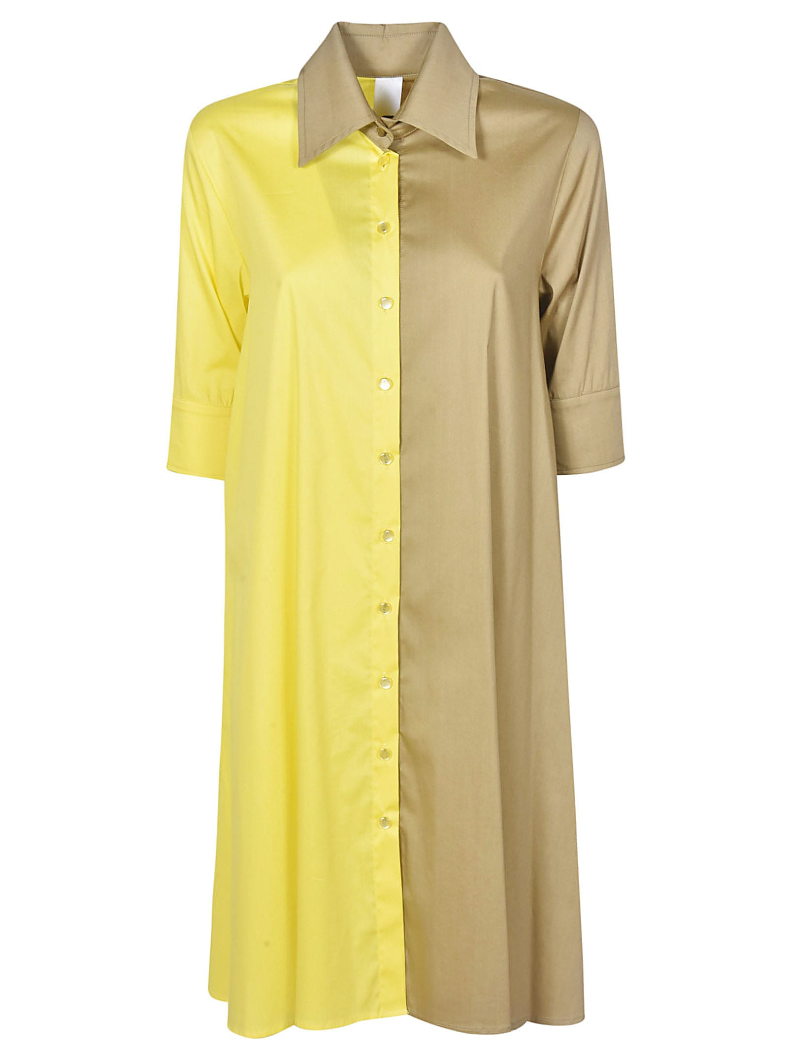 Buy Ultrachic Color-block Shirt Dress online, shop Ultrachic with free shipping