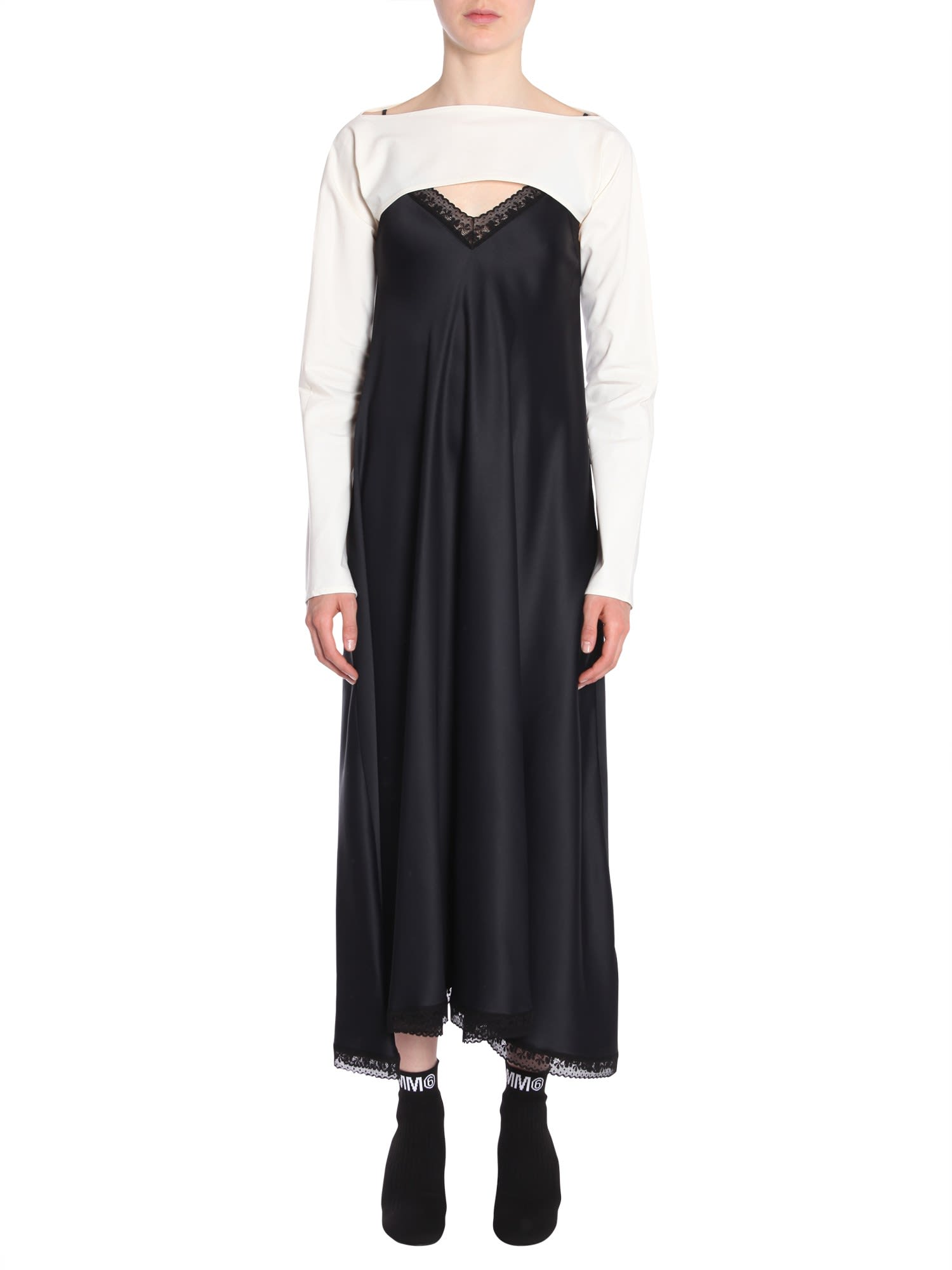 MM6 Maison Margiela Long Lace Dress