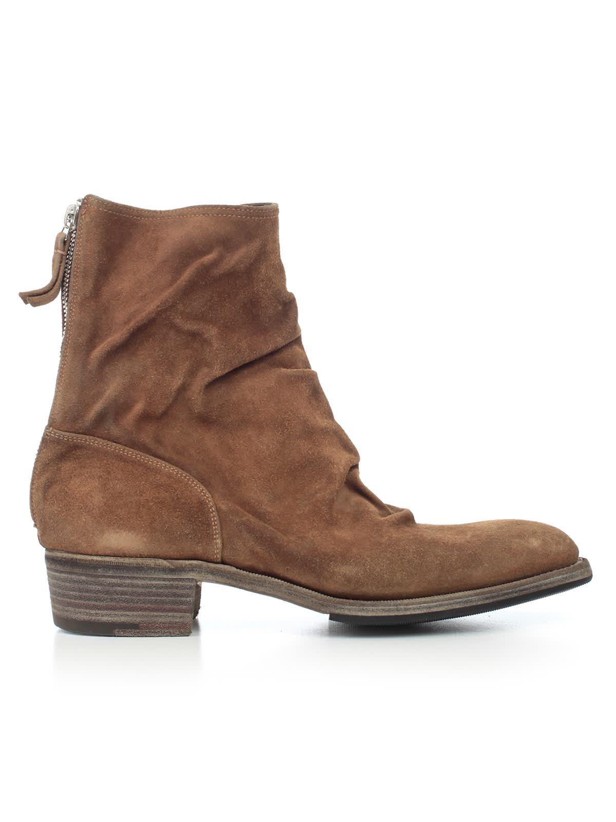 Premiata Ankle Boots Back Zip W/4 Heel