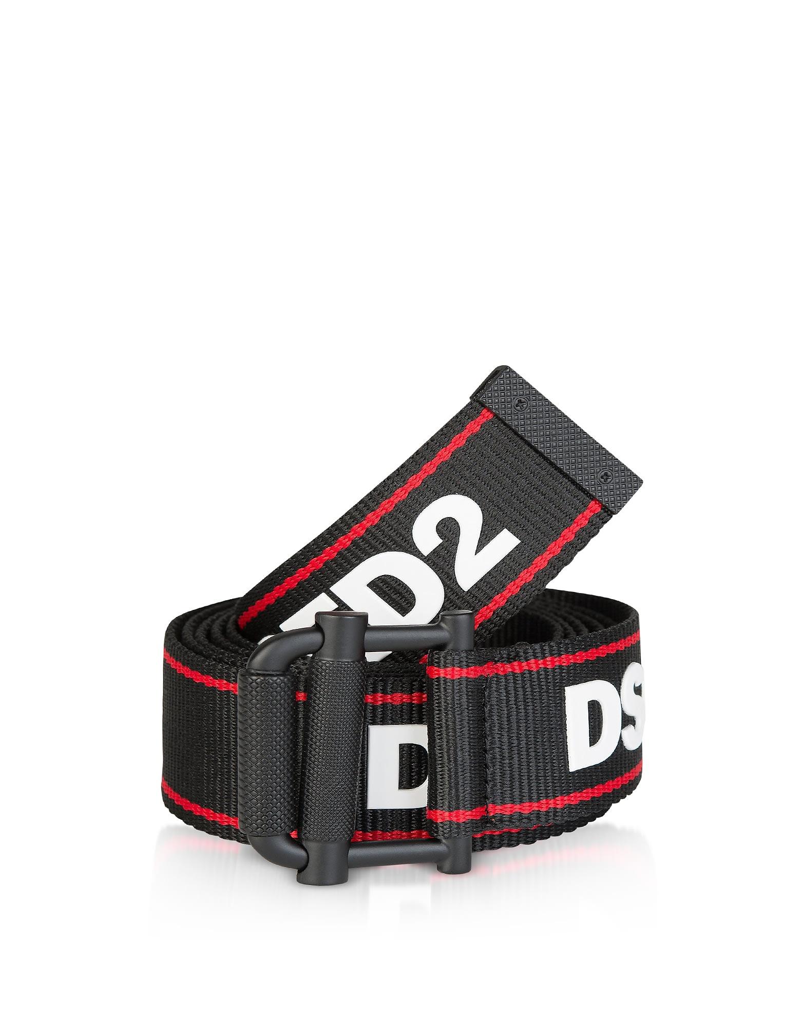 Dsquared2 Black Canvas Signature Belt