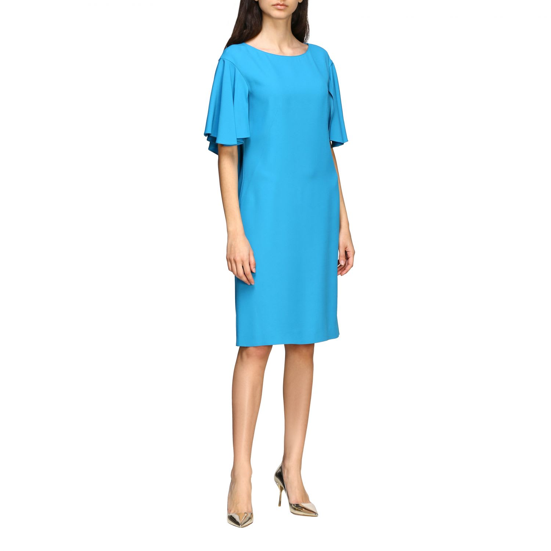 Buy Alberta Ferretti Dress Alberta Ferretti Cady Dress With Cape Sleeves online, shop Alberta Ferretti with free shipping