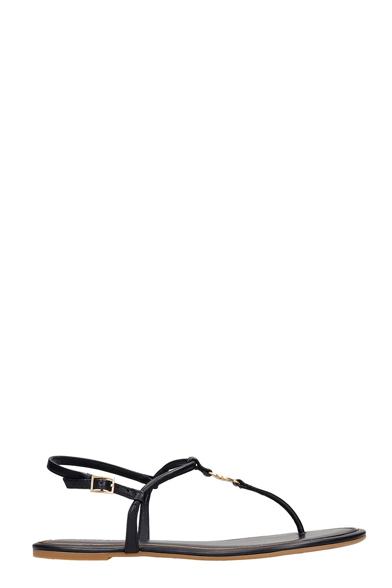 Tory Burch Emmy Flats In Black Leather