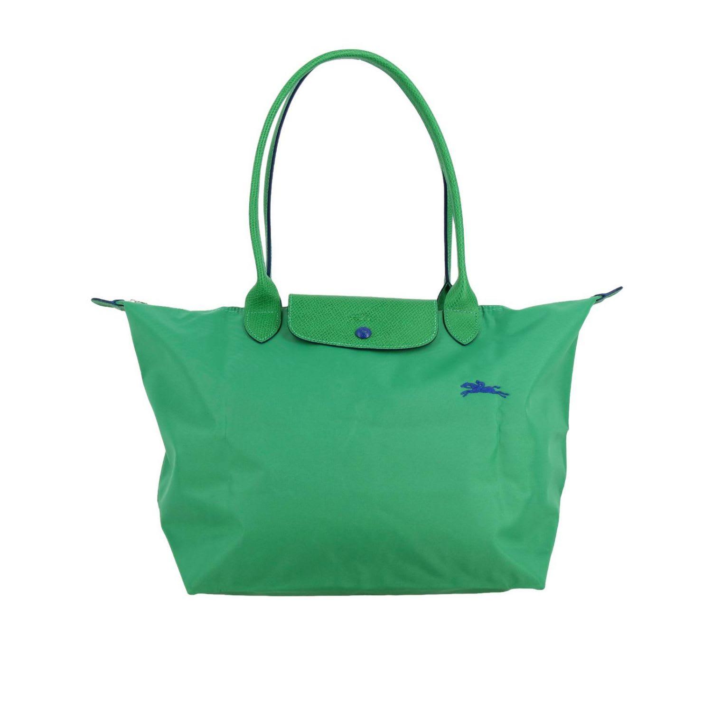 Longchamp In Nylon In Green