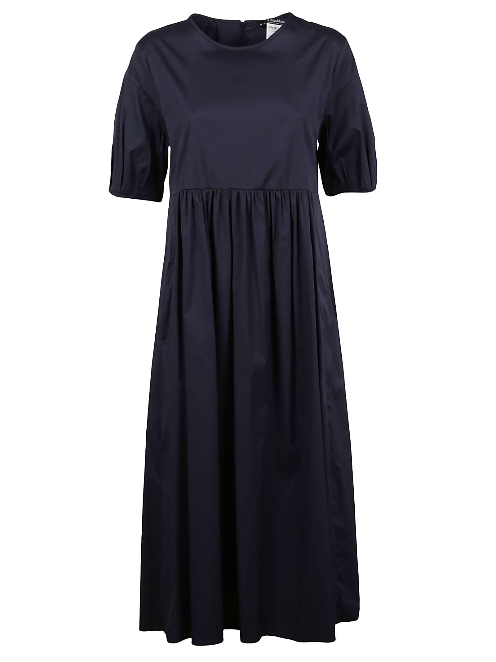 Buy S Max Mara Blue Cotton Dress online, shop S Max Mara with free shipping