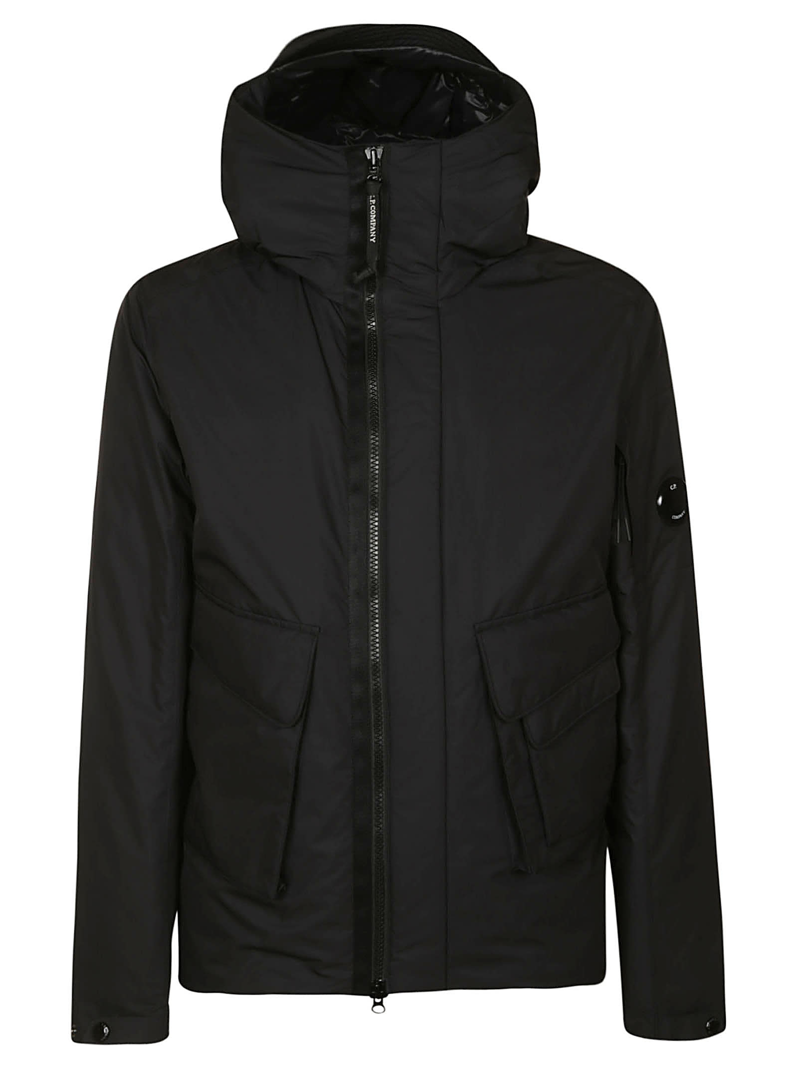 Side Cargo Pocket Hood Detail Zip Jacket from C.P. CompanyComposition: 100% Polyester