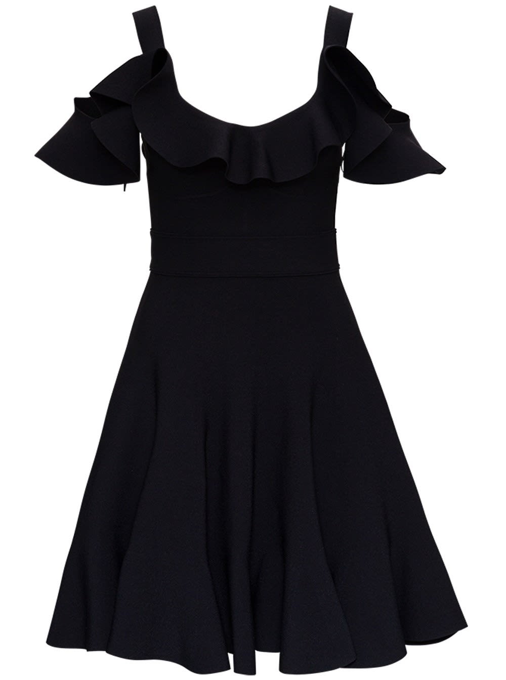 Wide Dress With Ruffles