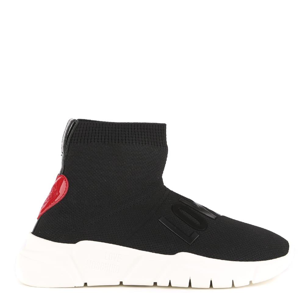 Love Moschino Black Elastic Fabric Sneaker