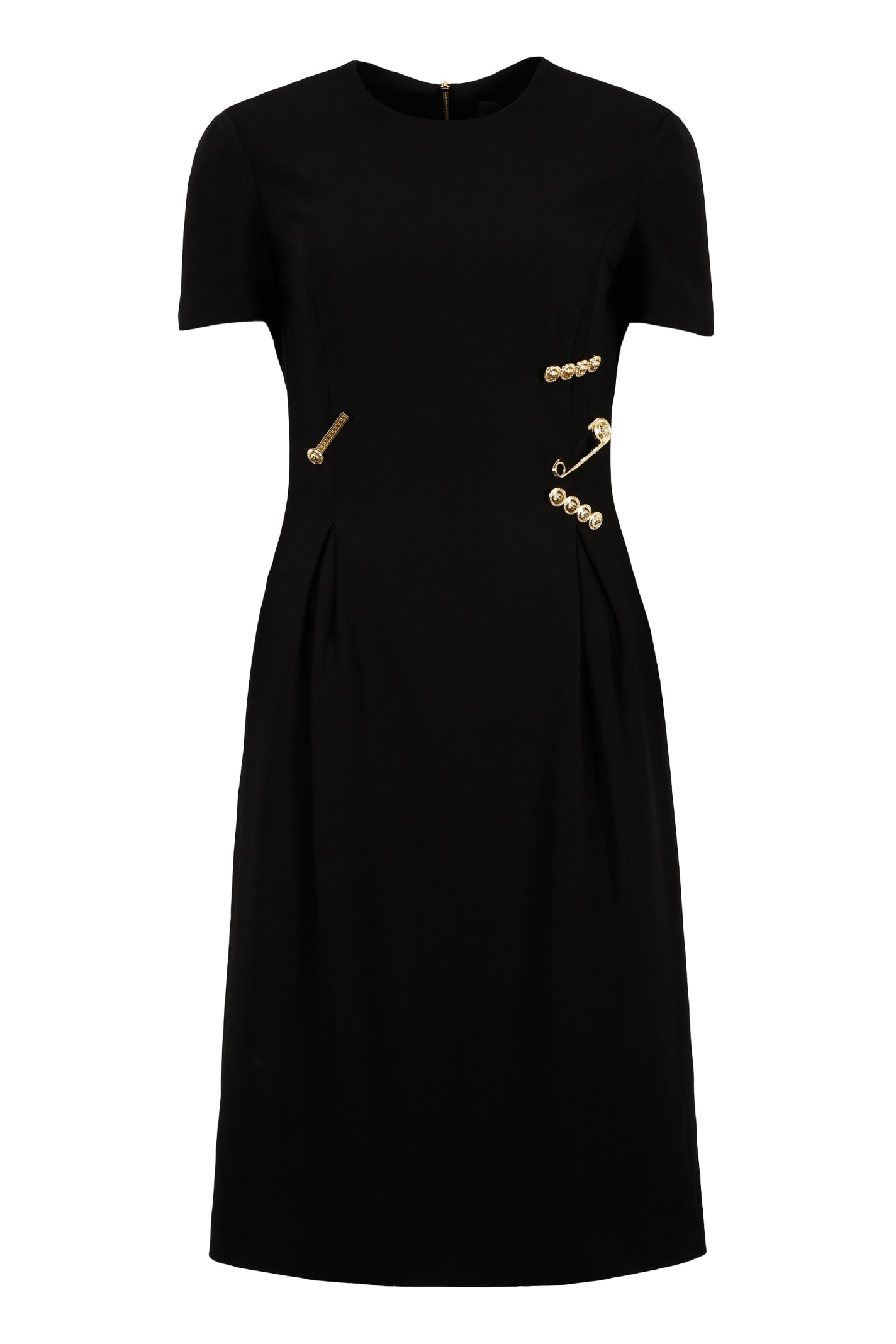 Versace Decorative Safety Pins Sheath Dress