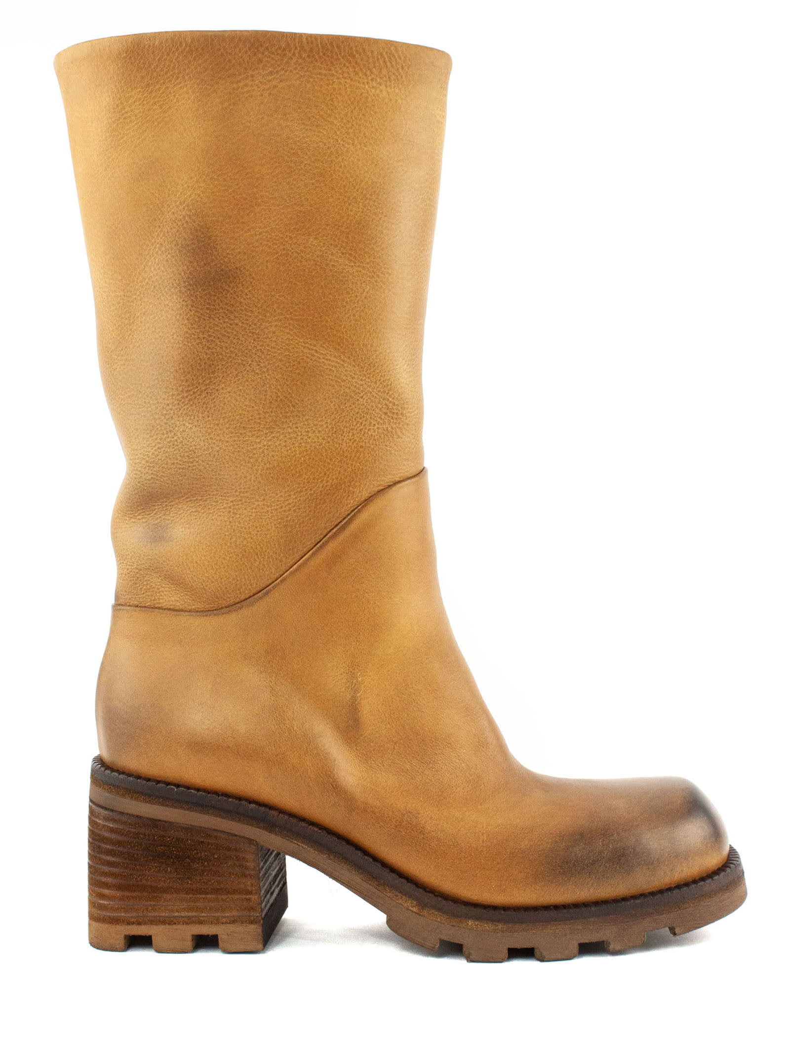 Boot In Light Brown Leather