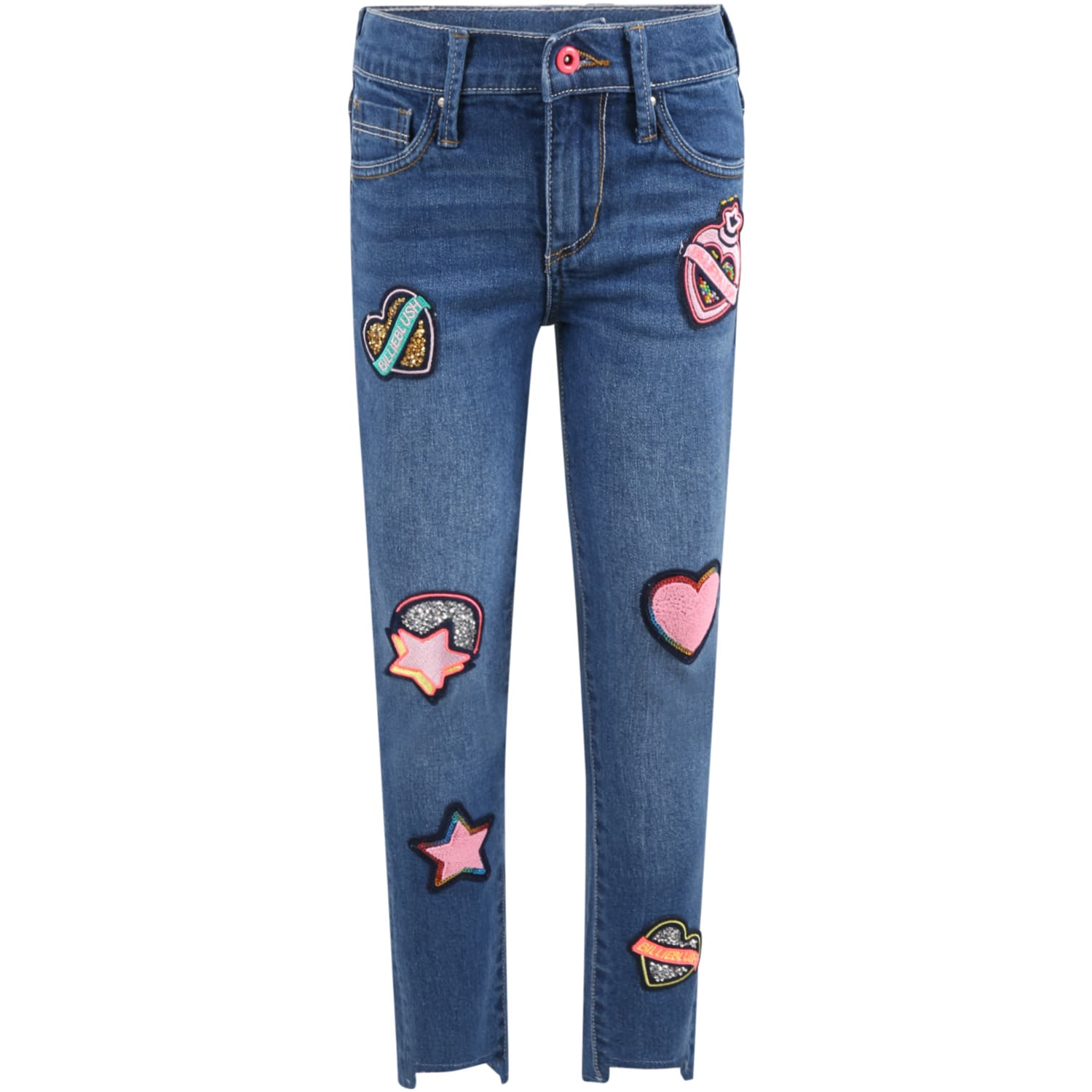 Blue Jeans For Girl With Logo