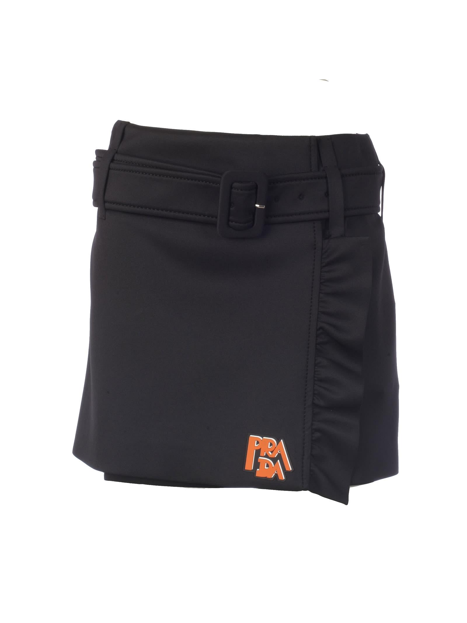 8efcb1f1268b5 Prada Ruffled Mini Skirt