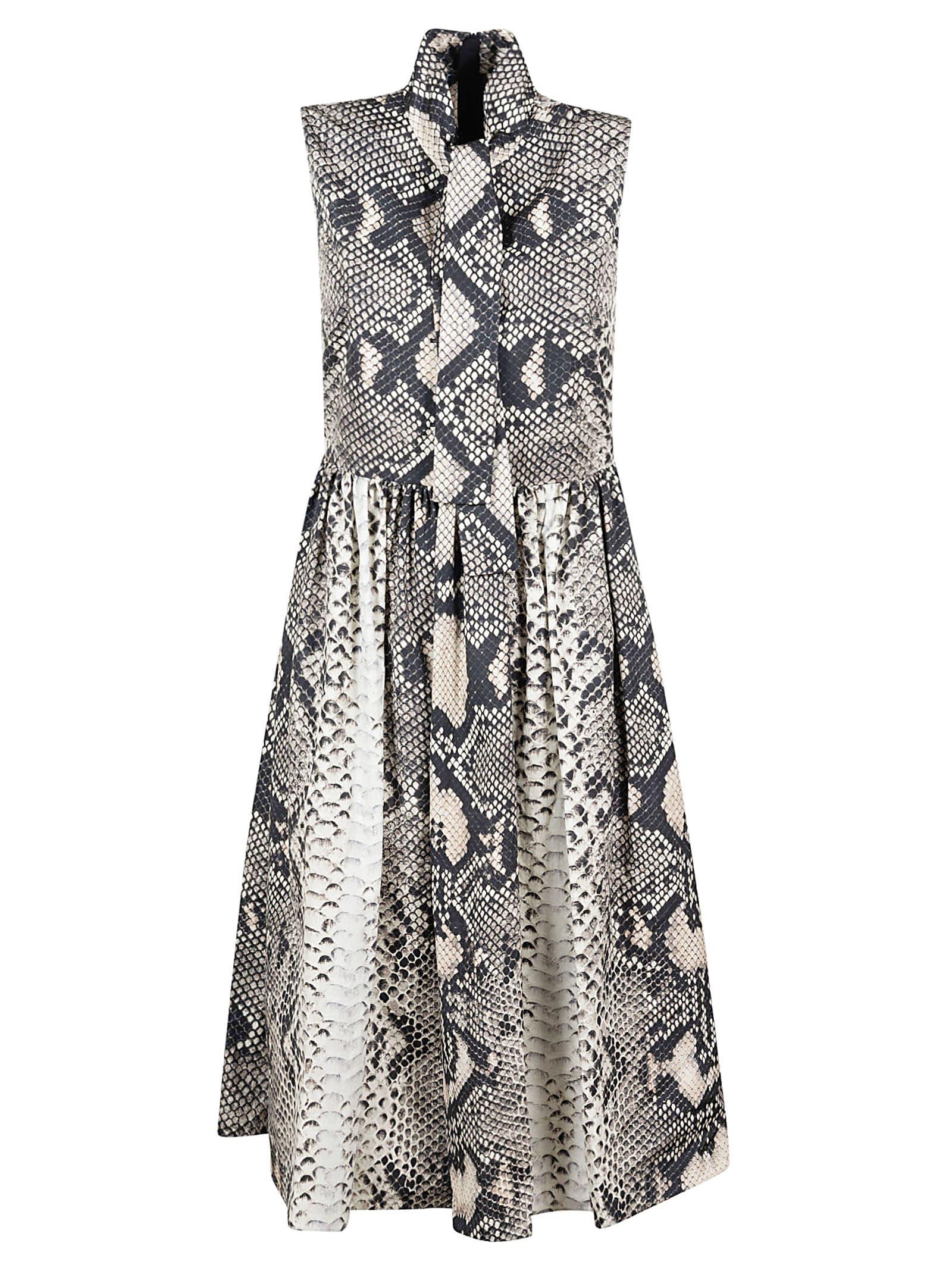 Buy Prada Snake Skin Print Dress online, shop Prada with free shipping