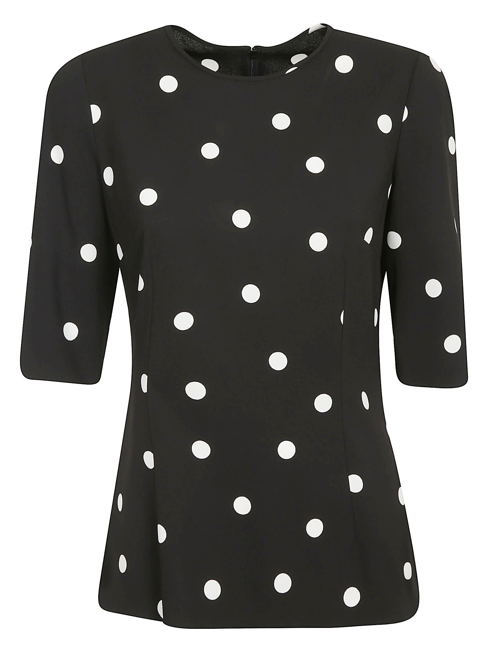 Dolce & Gabbana Dotted Print Top