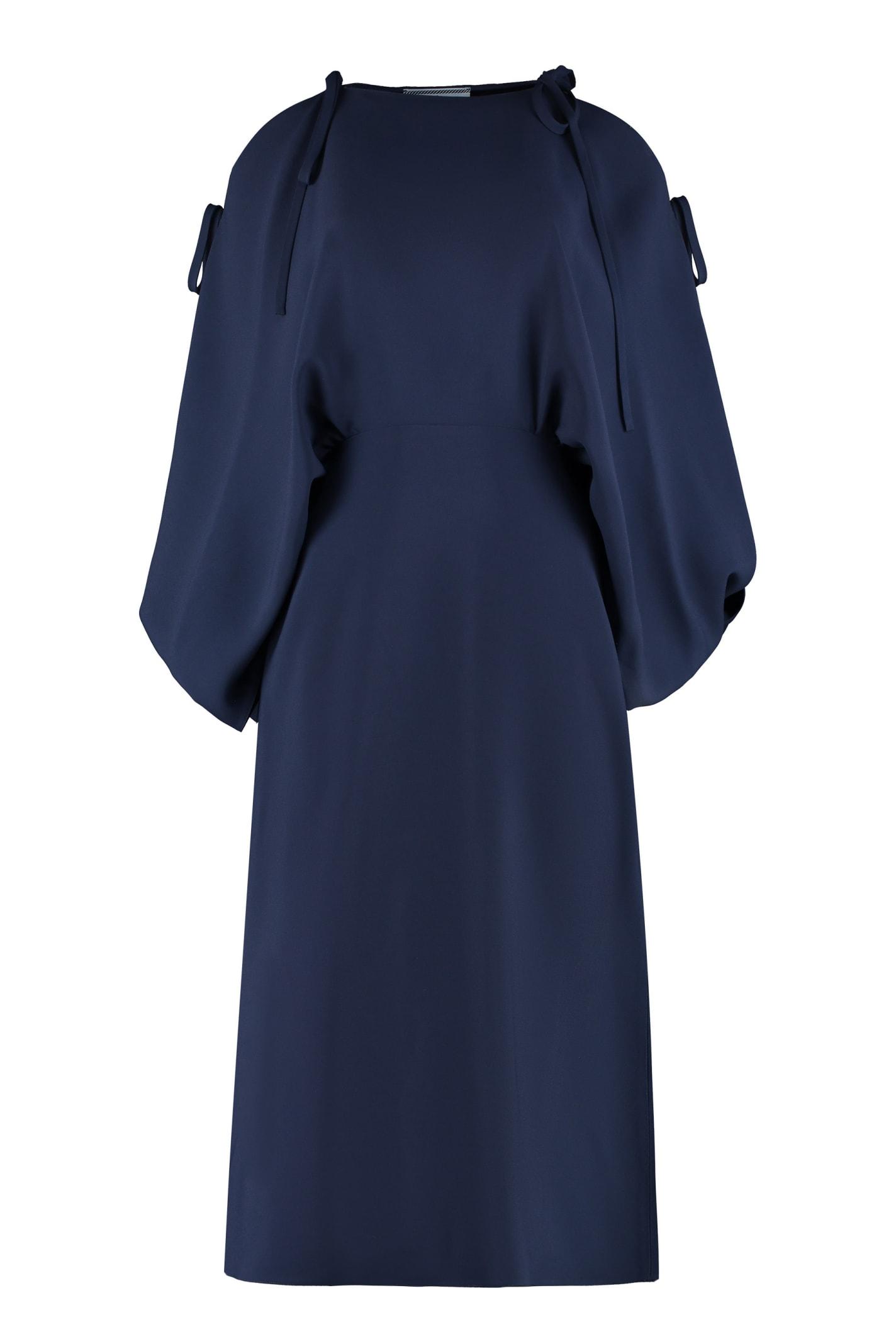 Prada Crêpe Envers Satin Dress