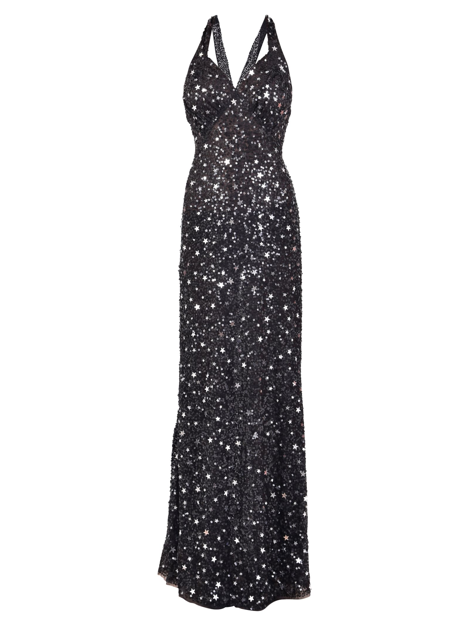 The Attico Sequinned Long Dress