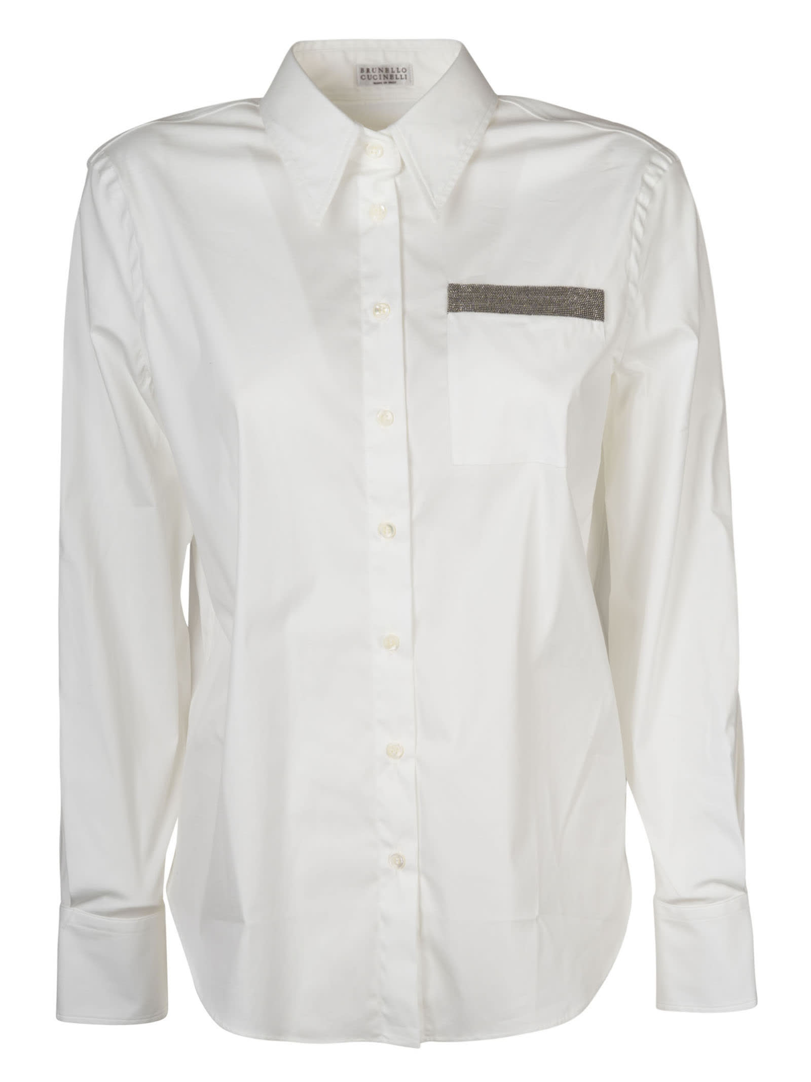 Brunello Cucinelli Shirts BEAD EMBELLISHED SHIRT