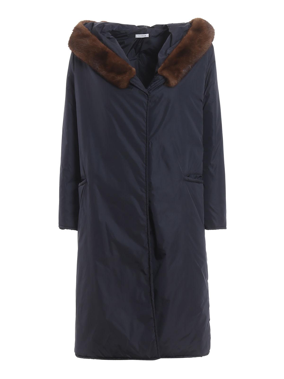 Parosh Raincoat With Mink