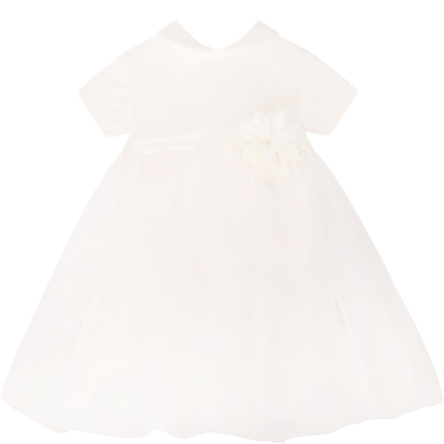 Photo of  Little Bear Ivory Dress With Bow And Flower- shop Little Bear  online sales