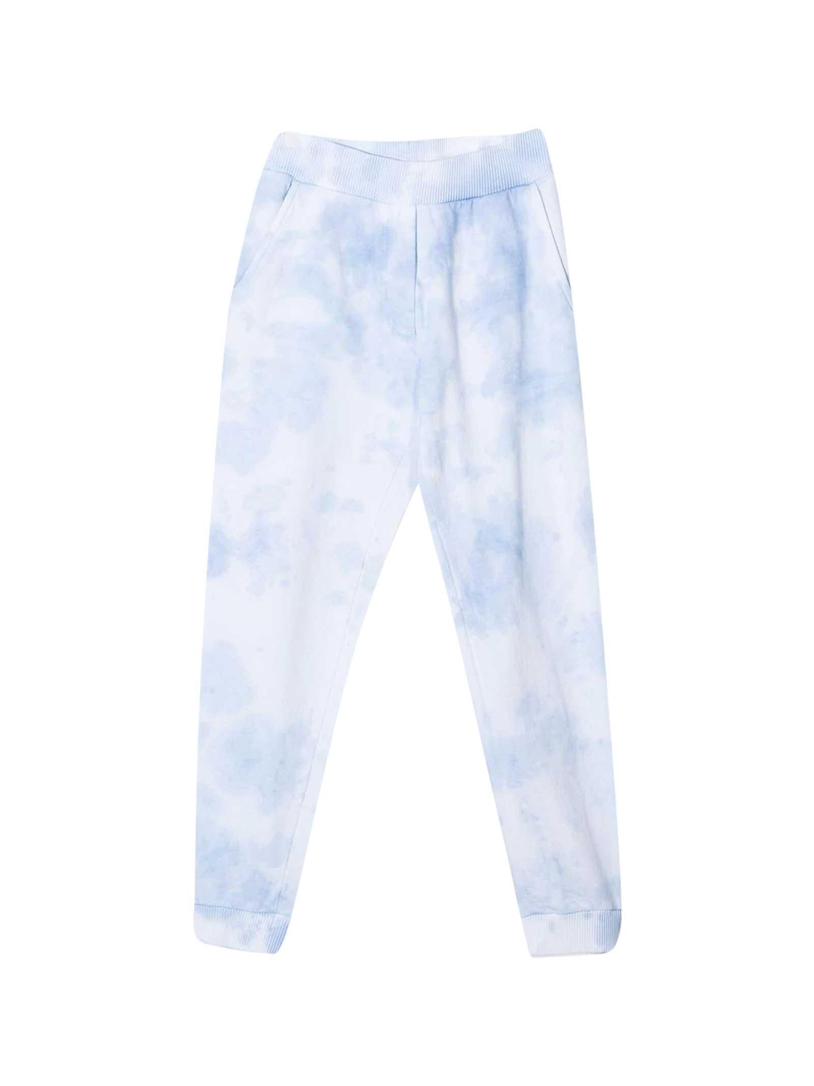 Sporty Trousers With Tie Dye Pattern