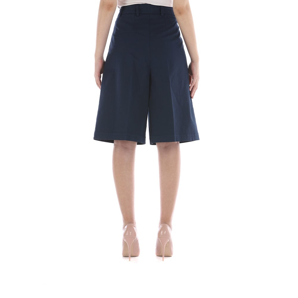 Semicouture Cottons WIDE KNEE-LENGTH BERMUDA SHORTS