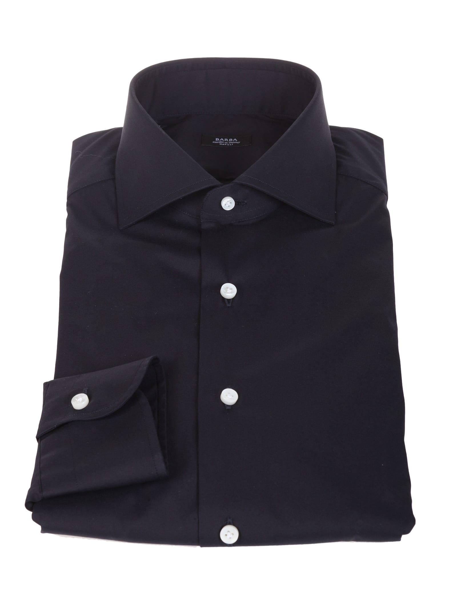 Barba blue cotton shirt