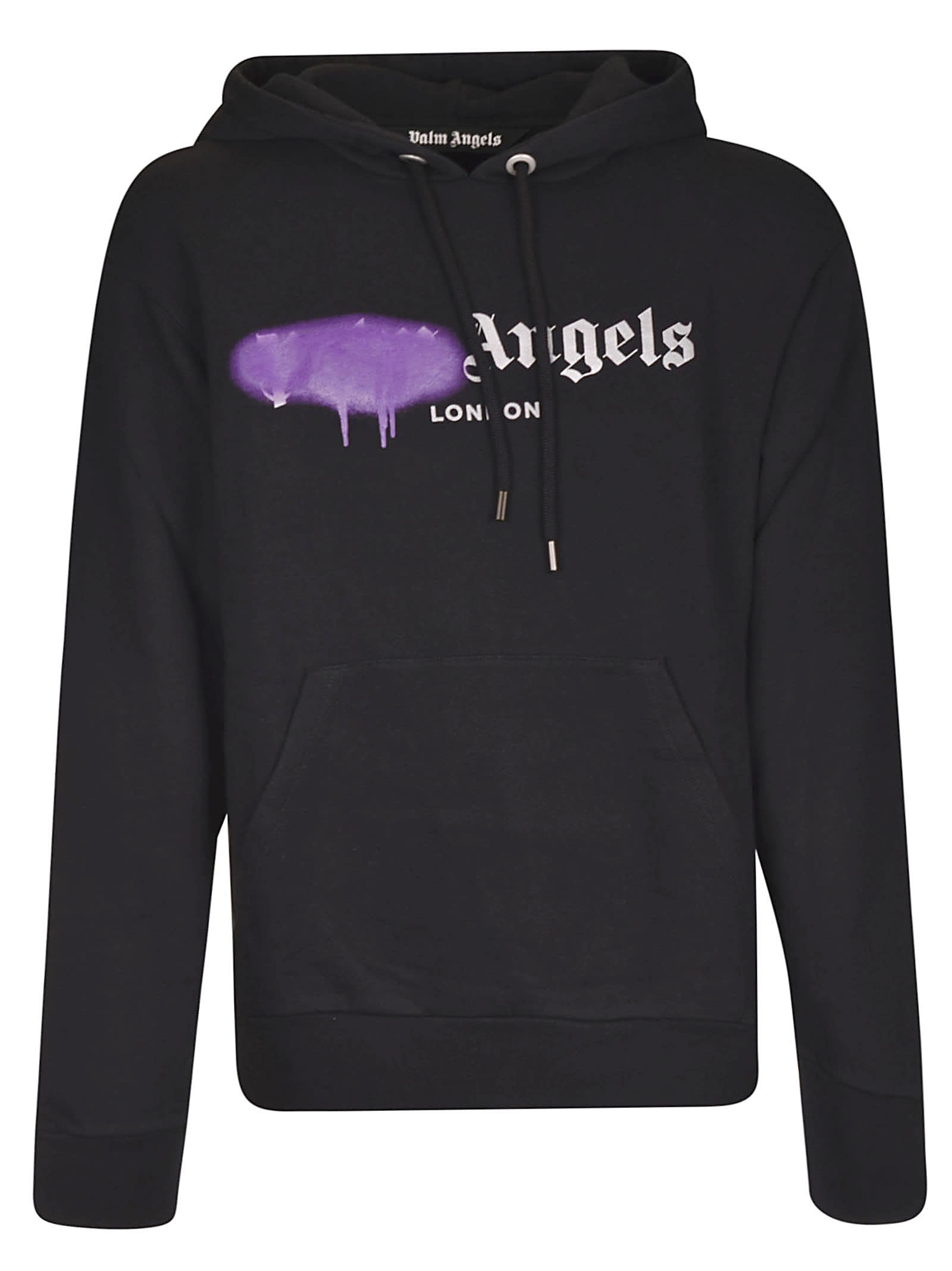 PALM ANGELS LONDON SPRAYED LOGO HOODIE