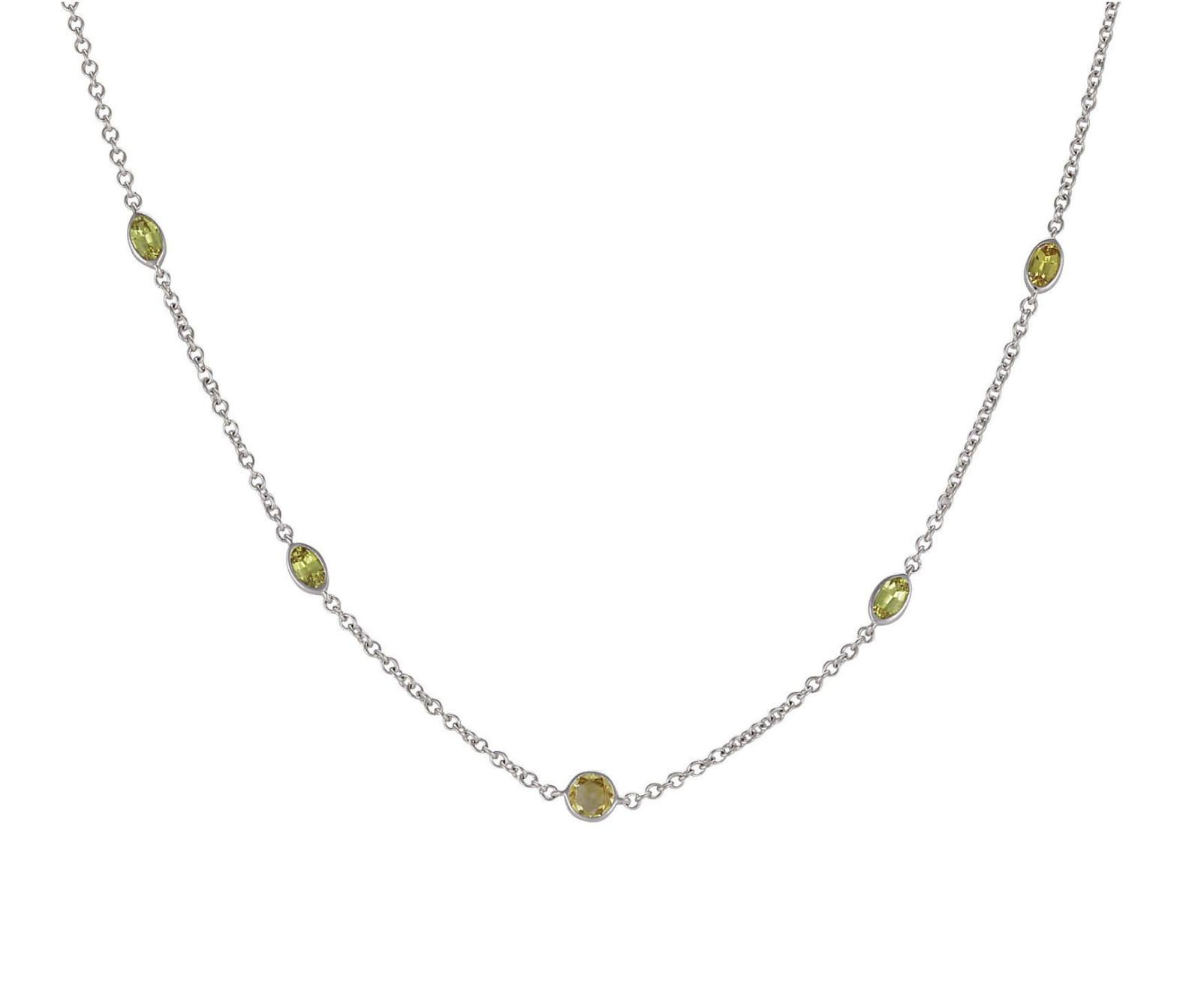 Lo Spazio Yellow Sapphire and Diamond Necklace