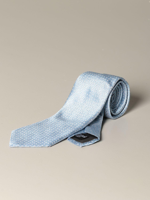 Emporio Armani Tie Emporio Armani Tie In Micro Patterned Silk