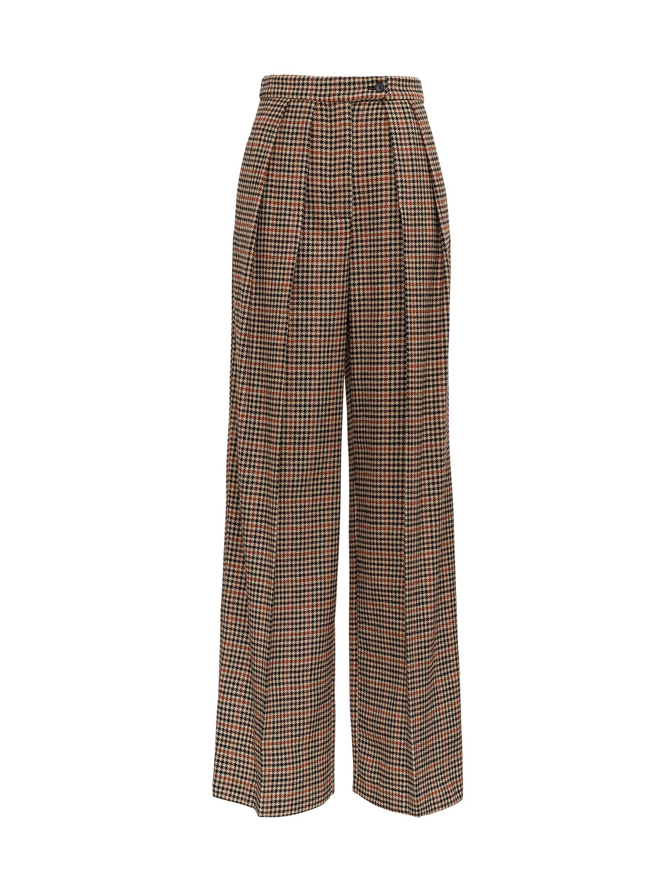 Check Oversize Trousers
