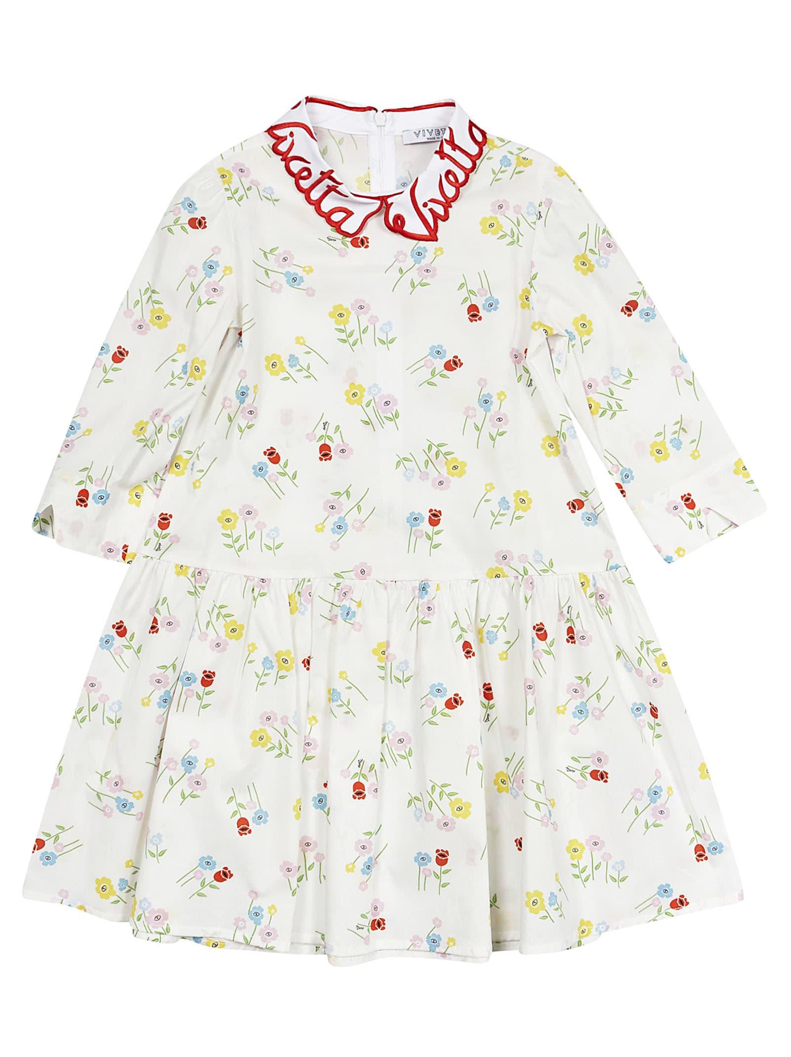 Vivetta Kids Floral Dress