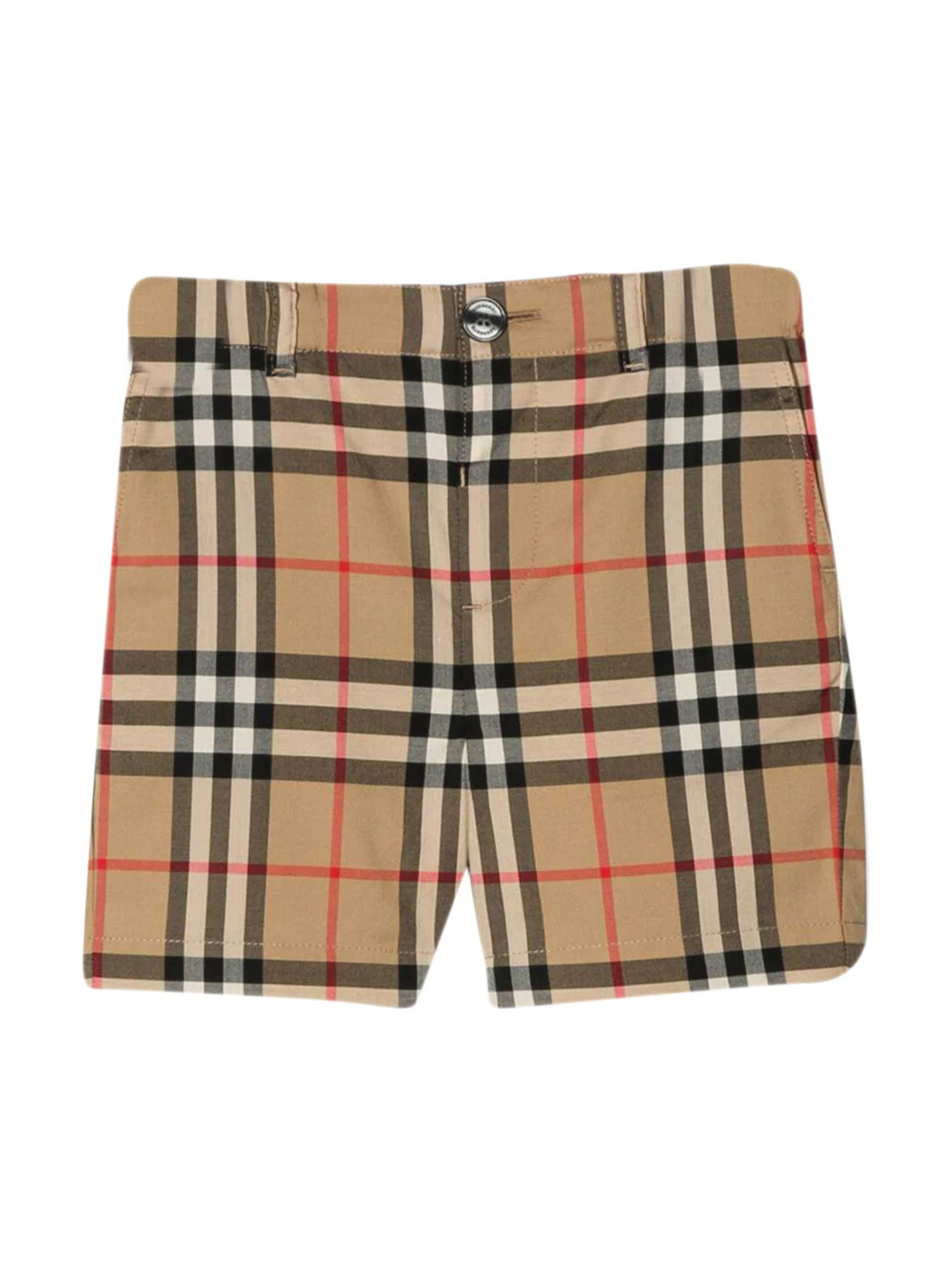 Burberry Babies' Vintage Check Shorts In Beige