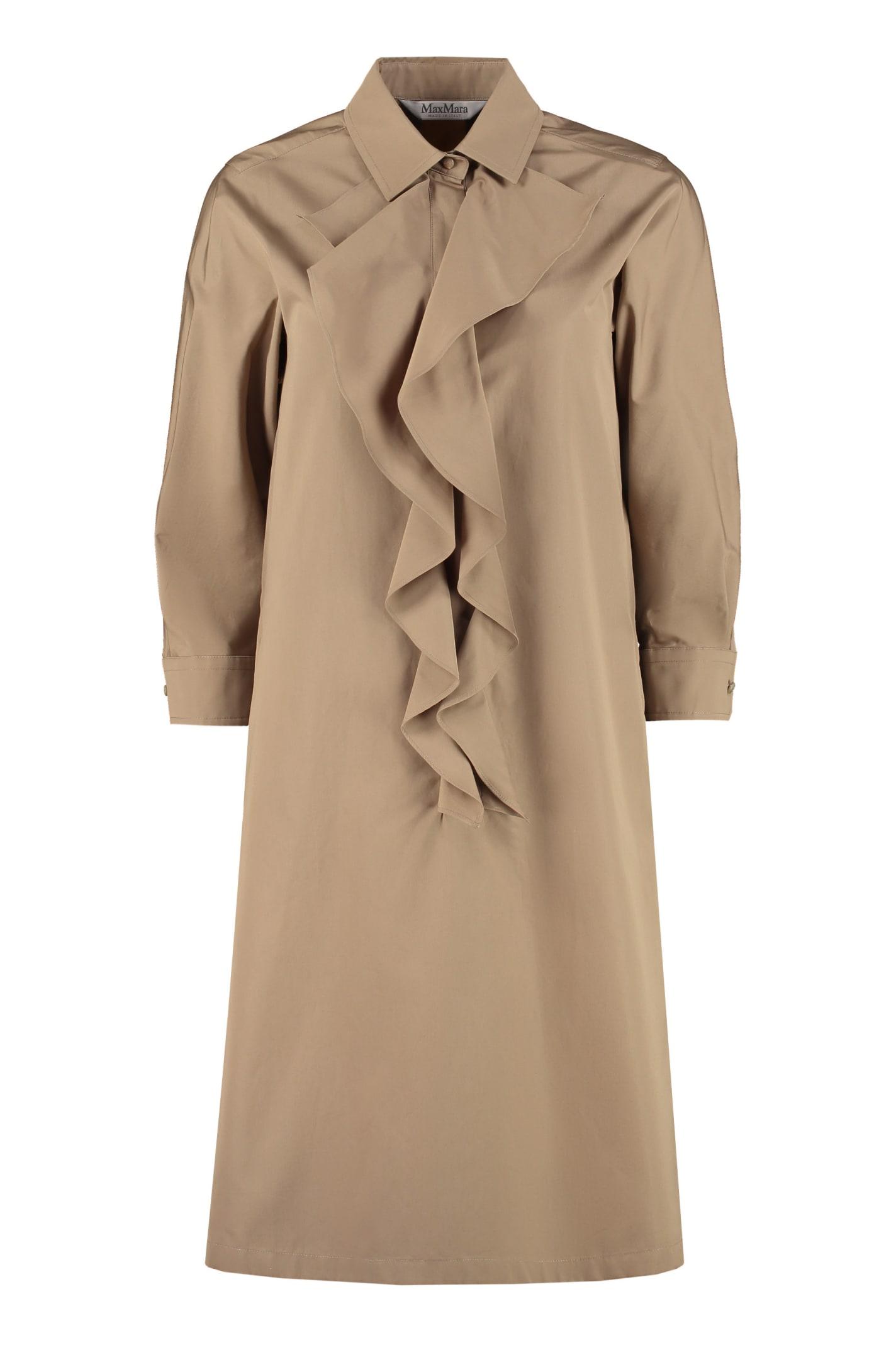 Buy Max Mara Cinque Cotton Shirt Dress online, shop Max Mara with free shipping