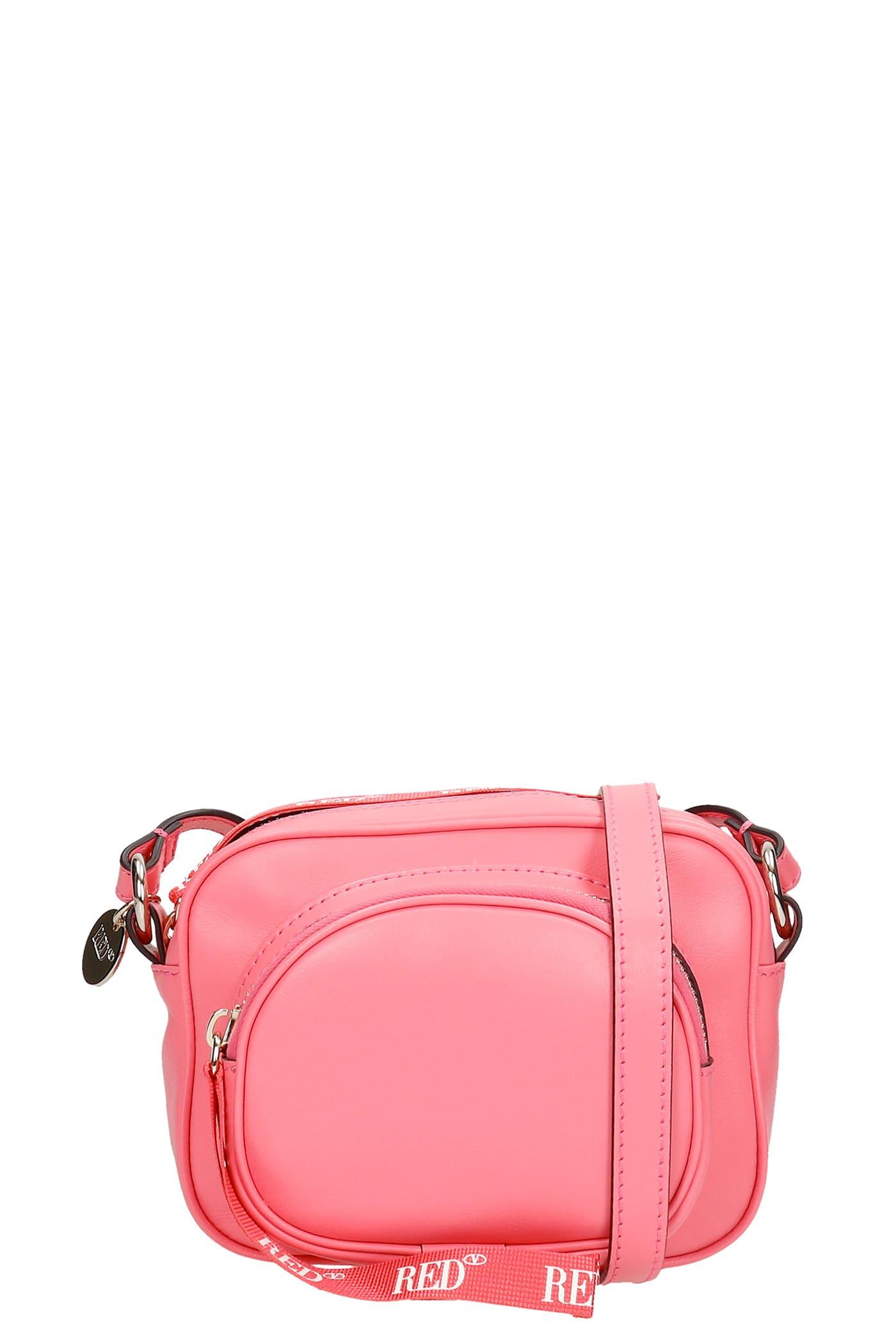 Red Valentino Shoulder Bag In Rose-pink Leather