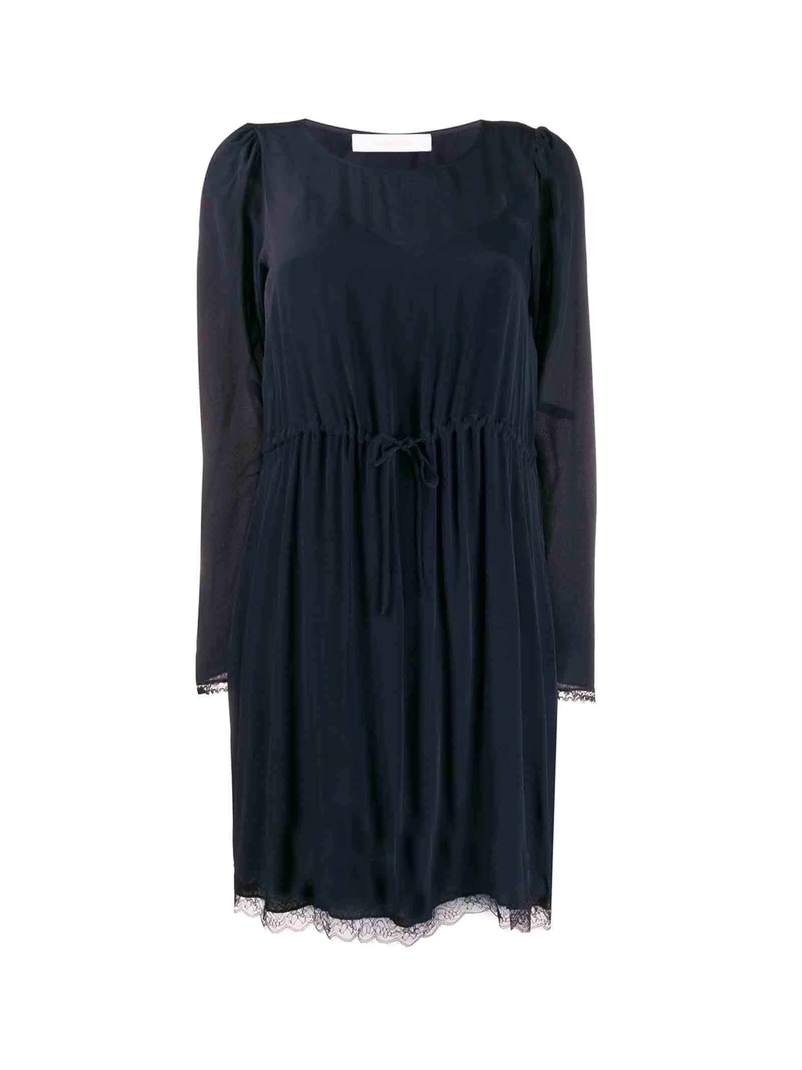 Buy See by Chloé See By Chloé Long-sleeve Shift Dress online, shop See by Chloé with free shipping