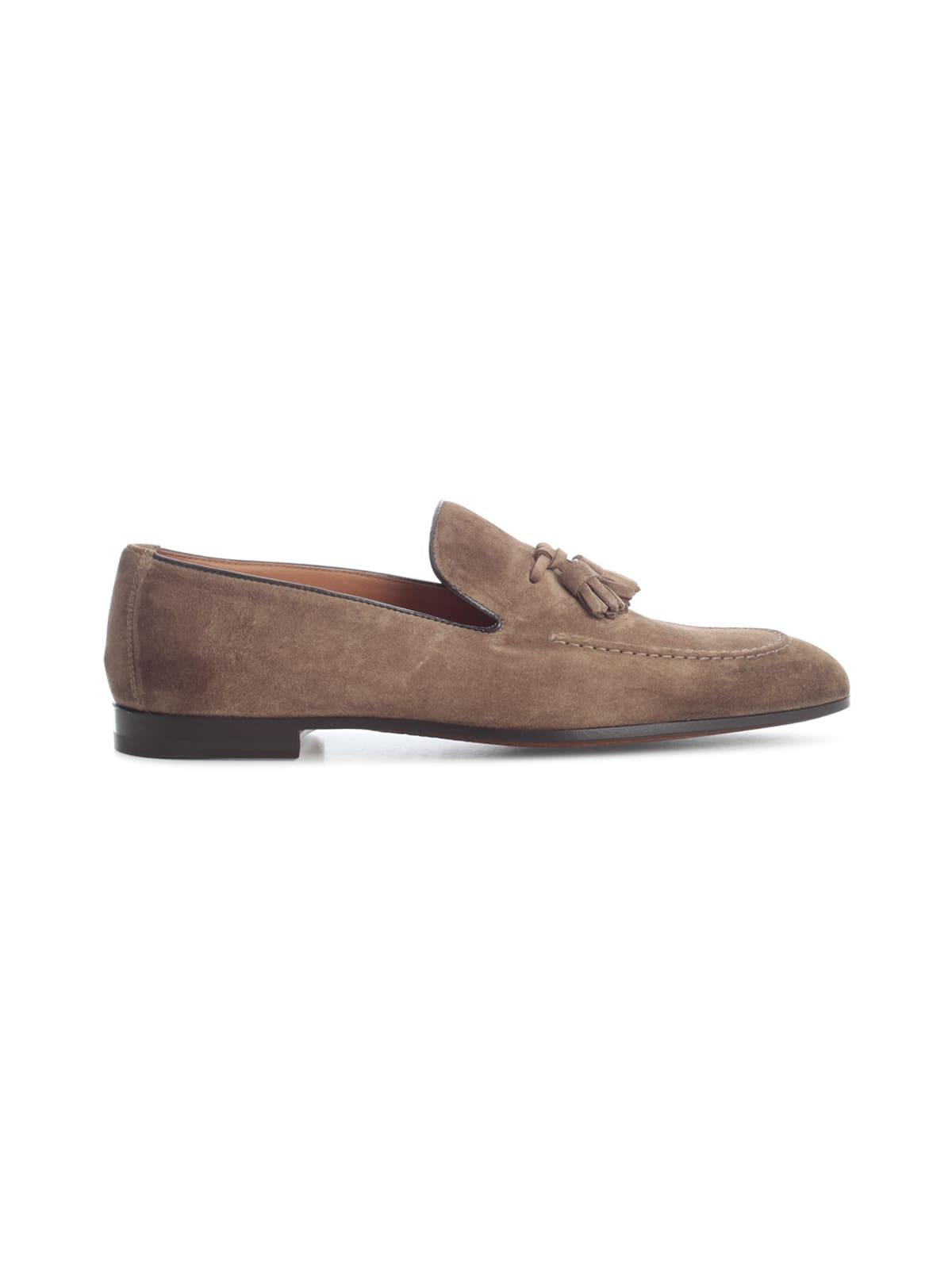 Doucal's Suedes LIGHT POINT TASSEL LOAFERS