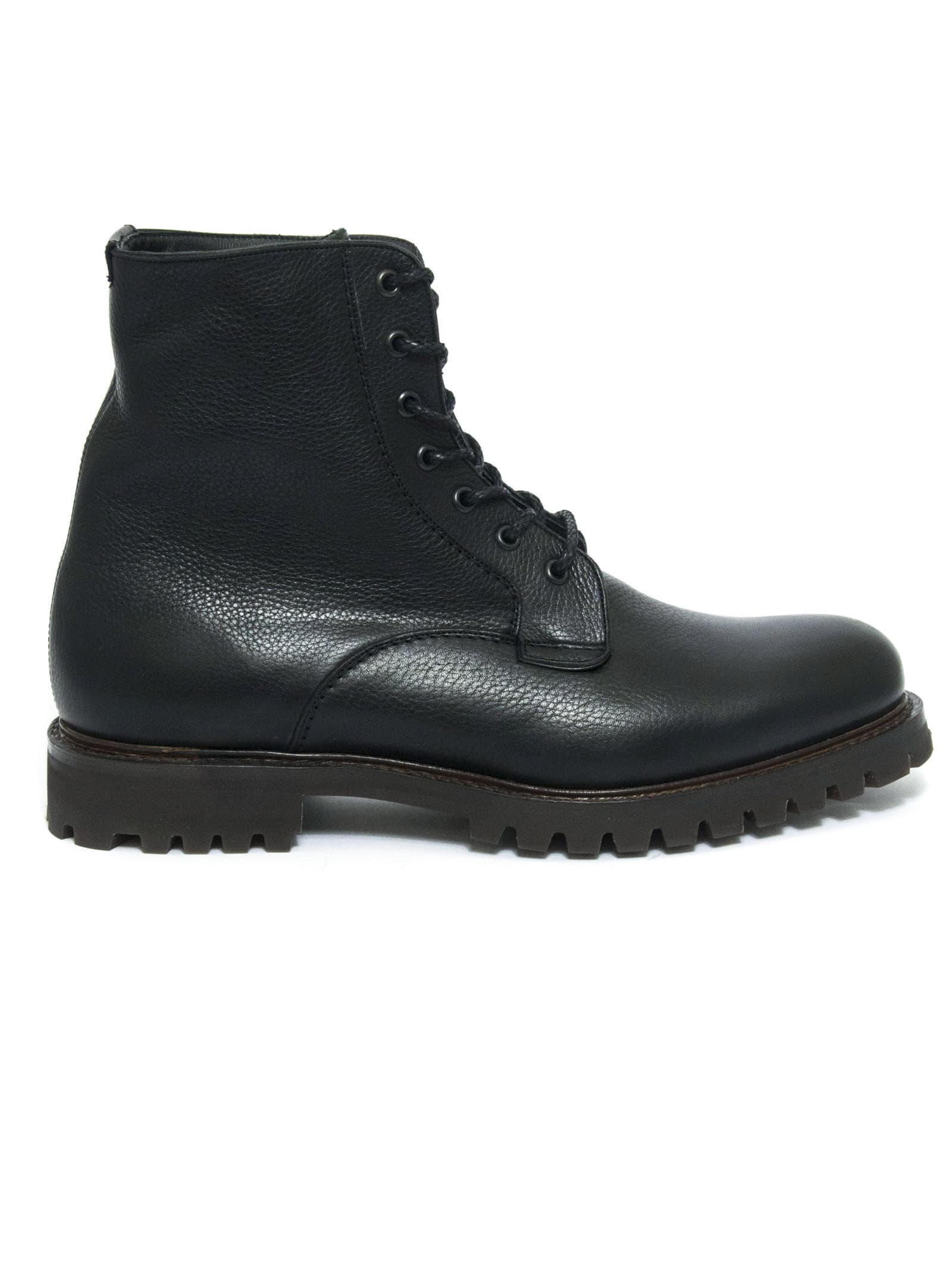 Churchs Coalport Soft Grain & Fur Lace-up Boot Black
