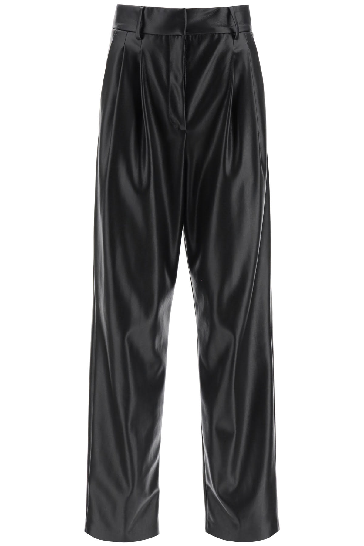 MSGM Faux Leather Loose Trousers