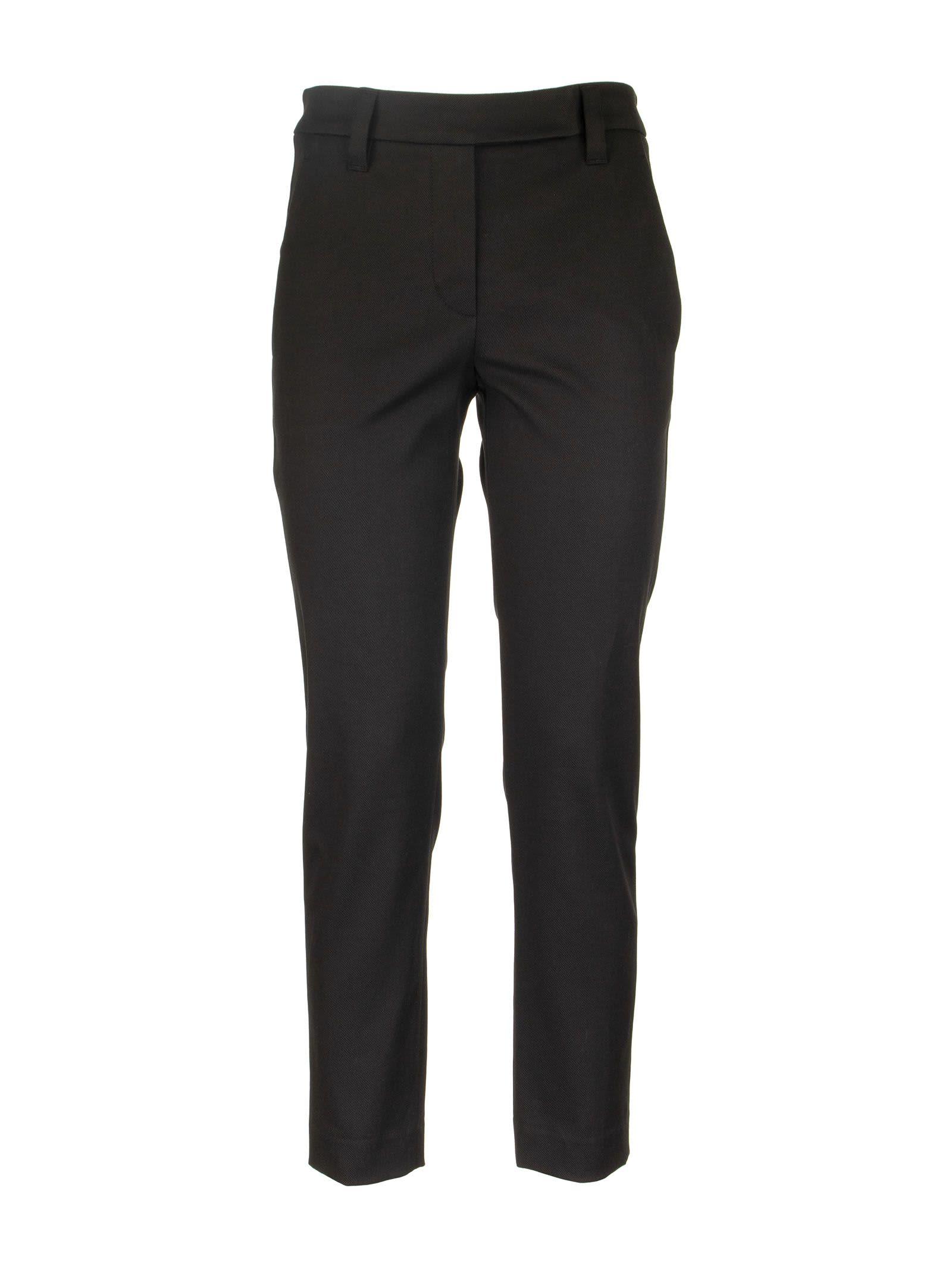 Brunello Cucinelli Stretch Cotton Cover Slim Fit Trousers