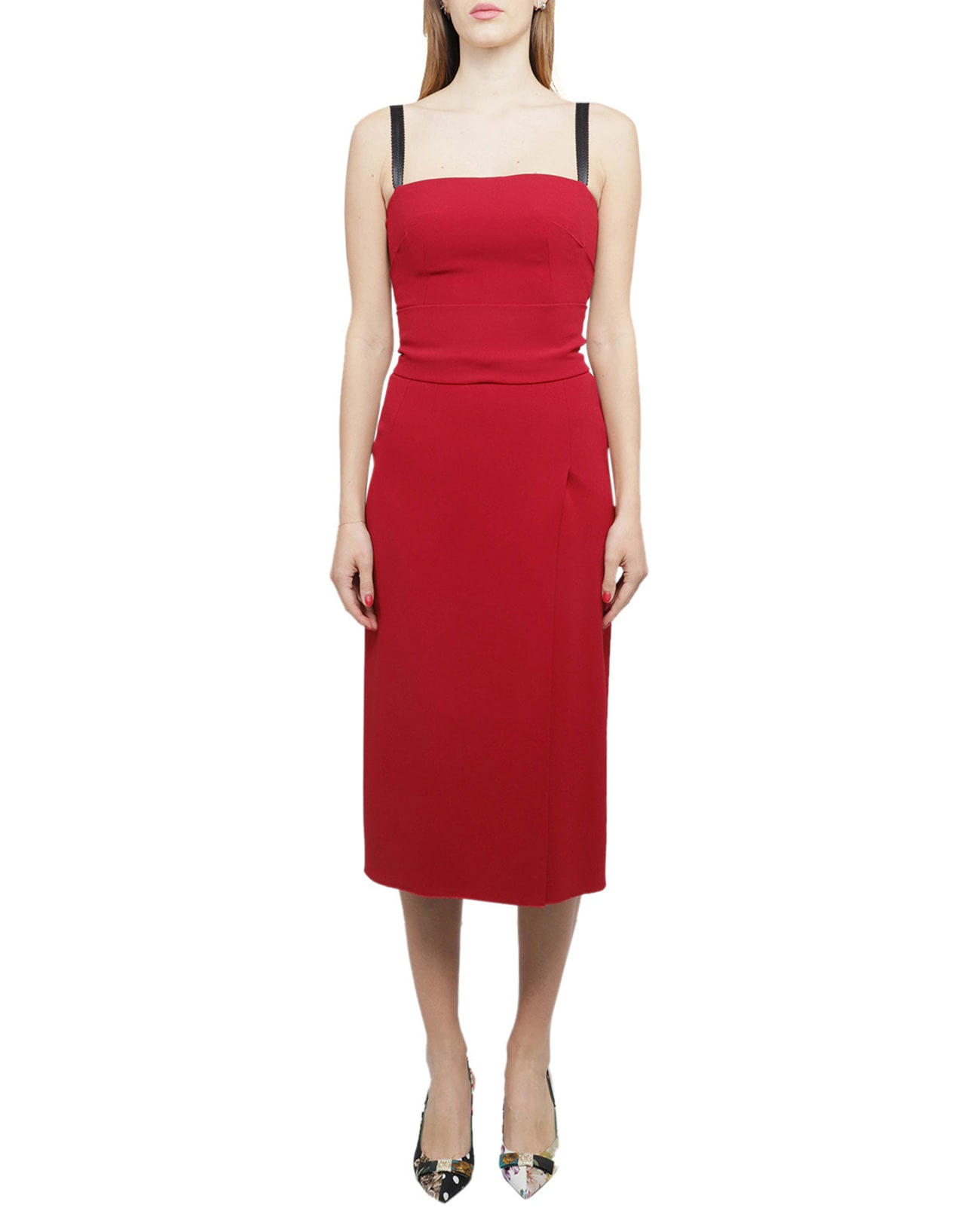 Buy Dolce & Gabbana Red Dress online, shop Dolce & Gabbana with free shipping