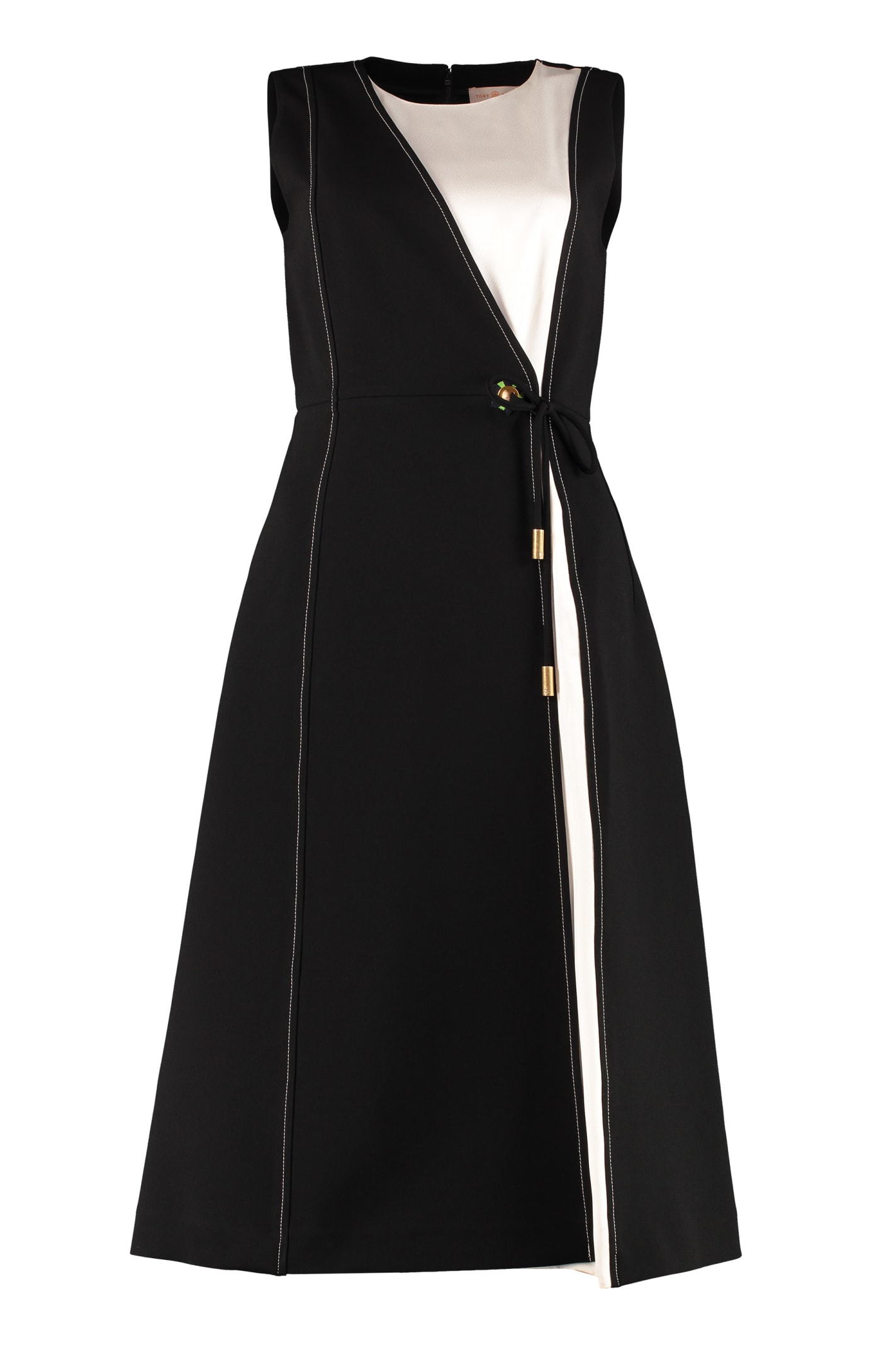 Buy Tory Burch Color-block Wrap Dress online, shop Tory Burch with free shipping