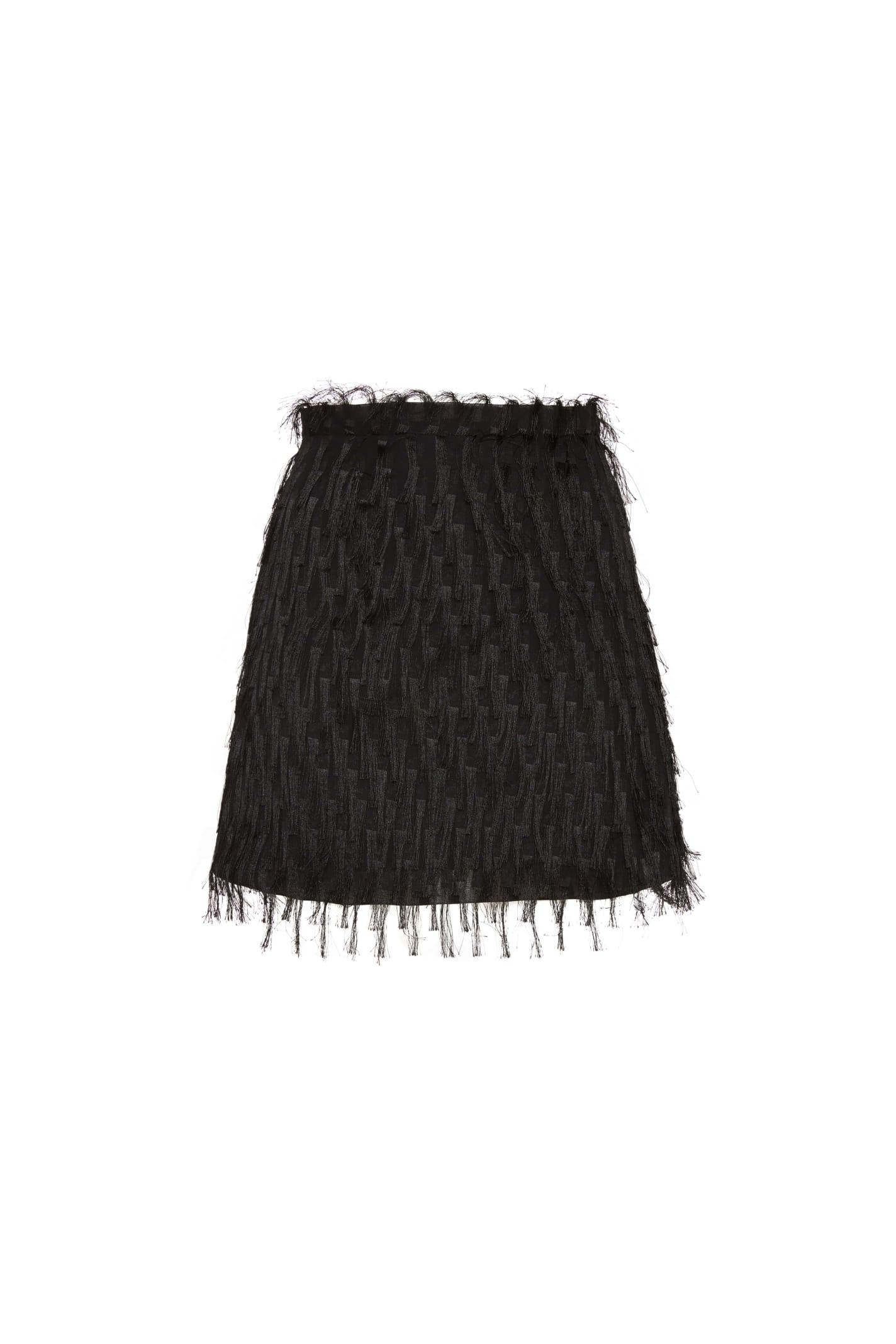 Amotea Baby Mini Skirt In Black Fil Coupe