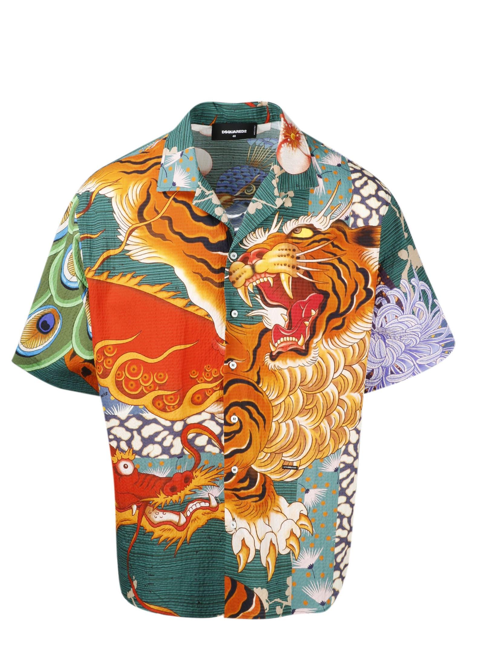 Dsquared2 Zodiac Bowling Shirt