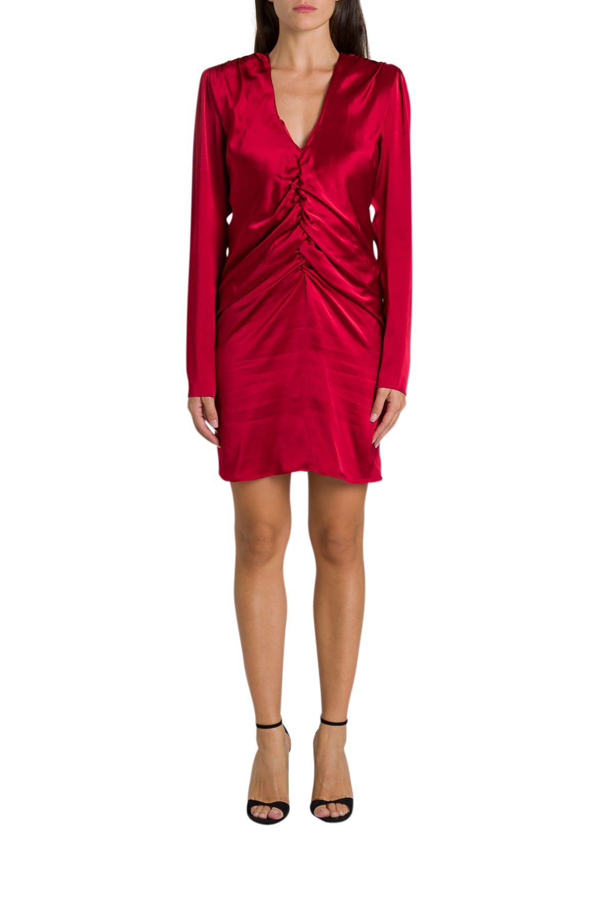 Federica Tosi Draped Silk Short Dress