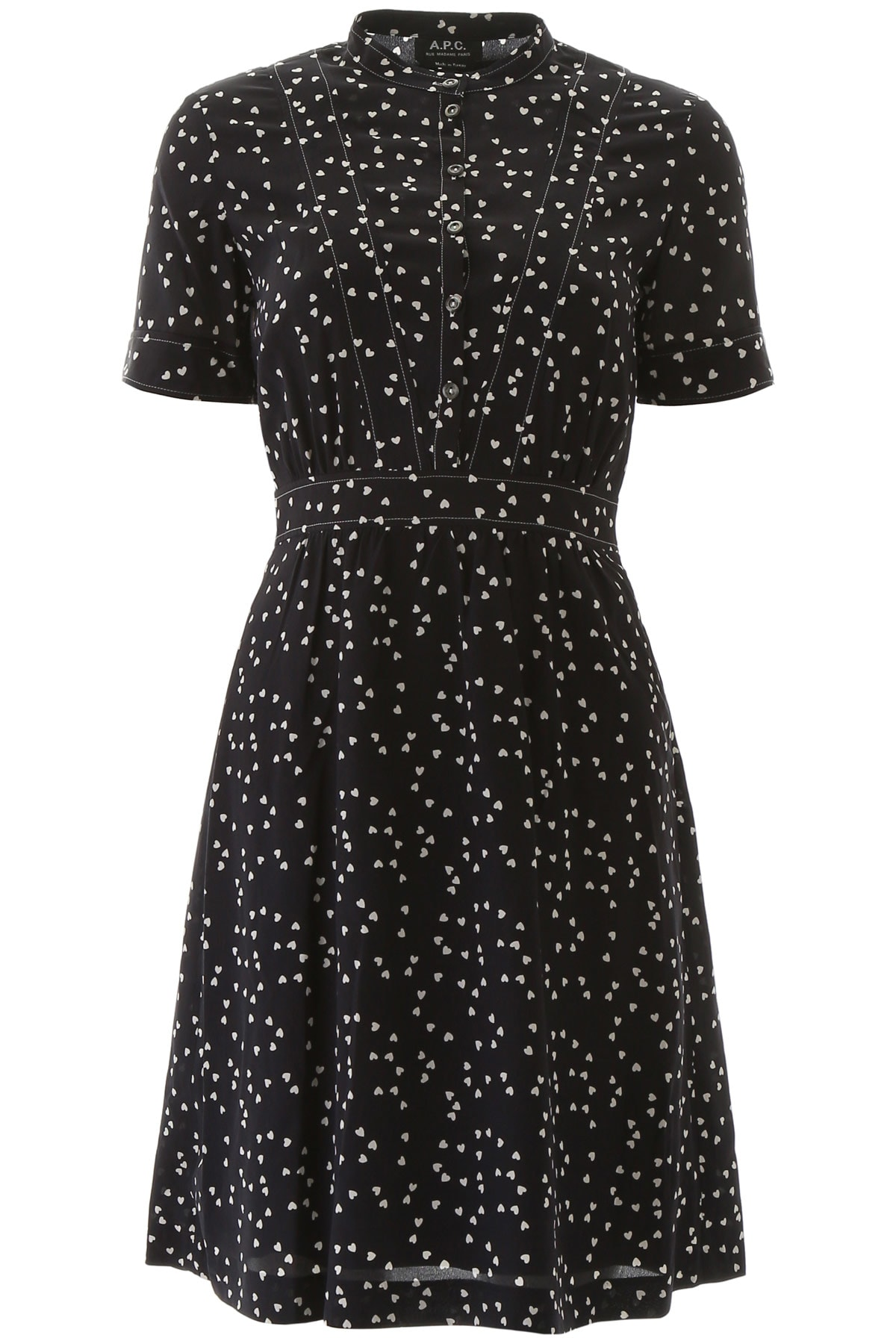 Buy A.P.C. Heart Print Dress online, shop A.P.C. with free shipping