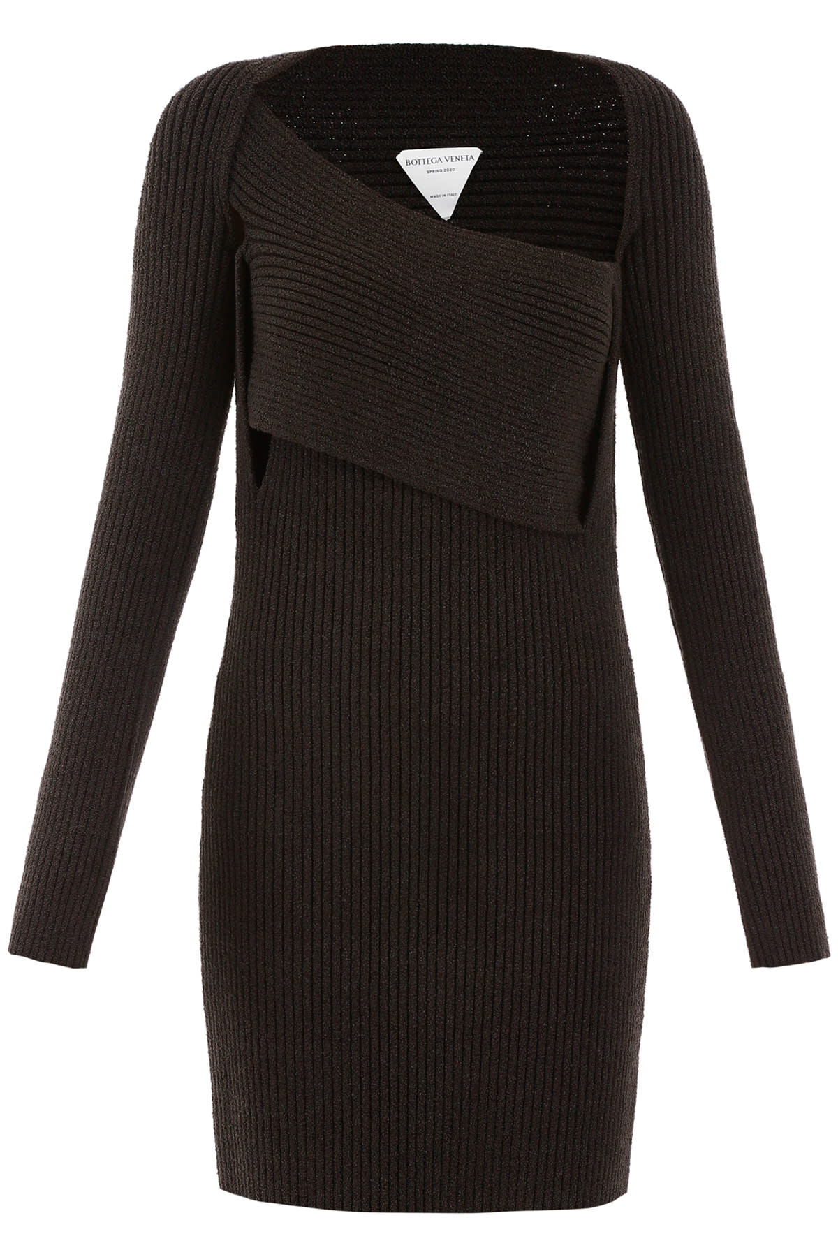 Buy Bottega Veneta Ribbed Knit Dress online, shop Bottega Veneta with free shipping