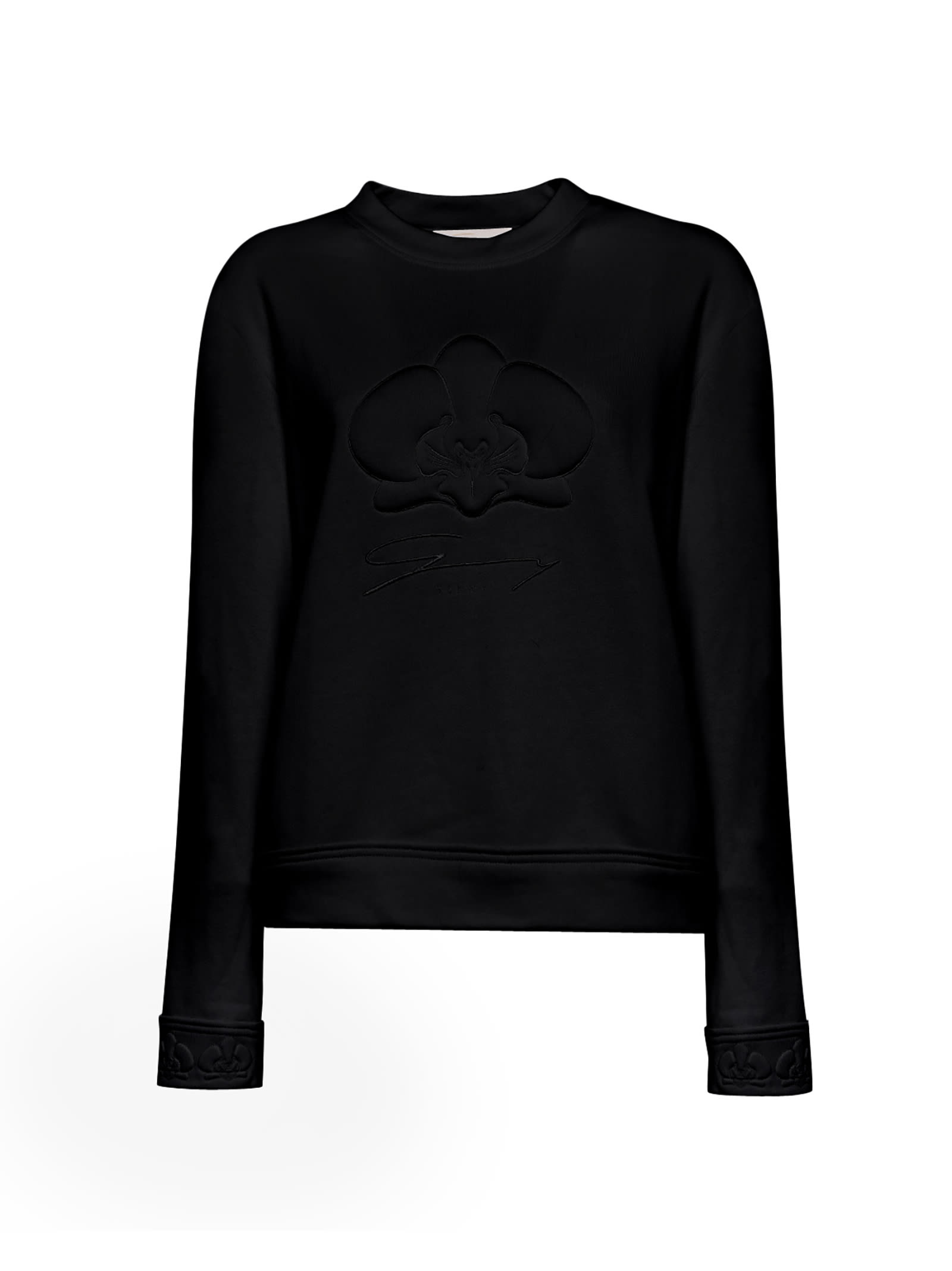Black Orchid Embossed Cotton Sweater